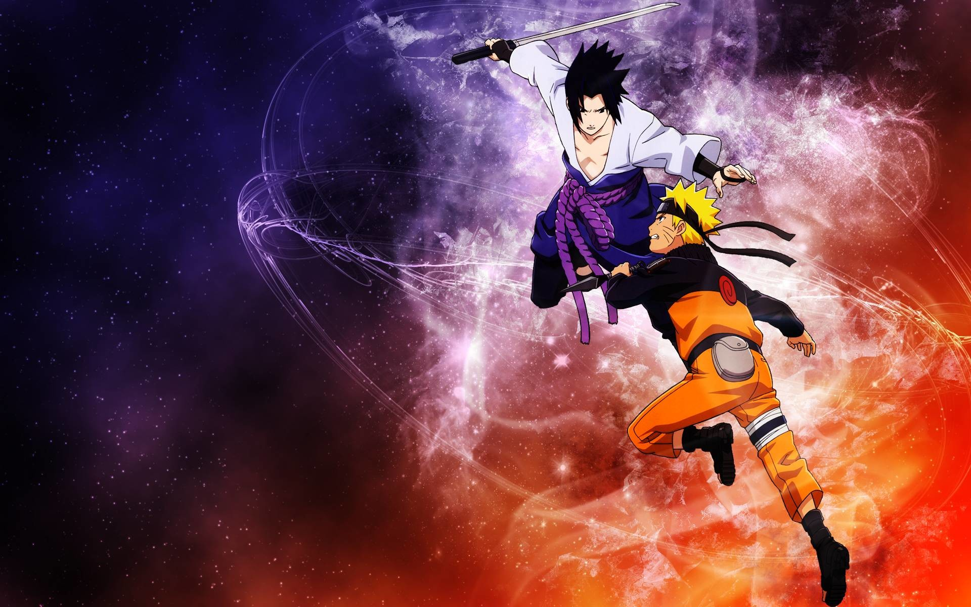 1920x1200 Sasuke and Naruto Shippuden Wallpaper HD - WallFinest