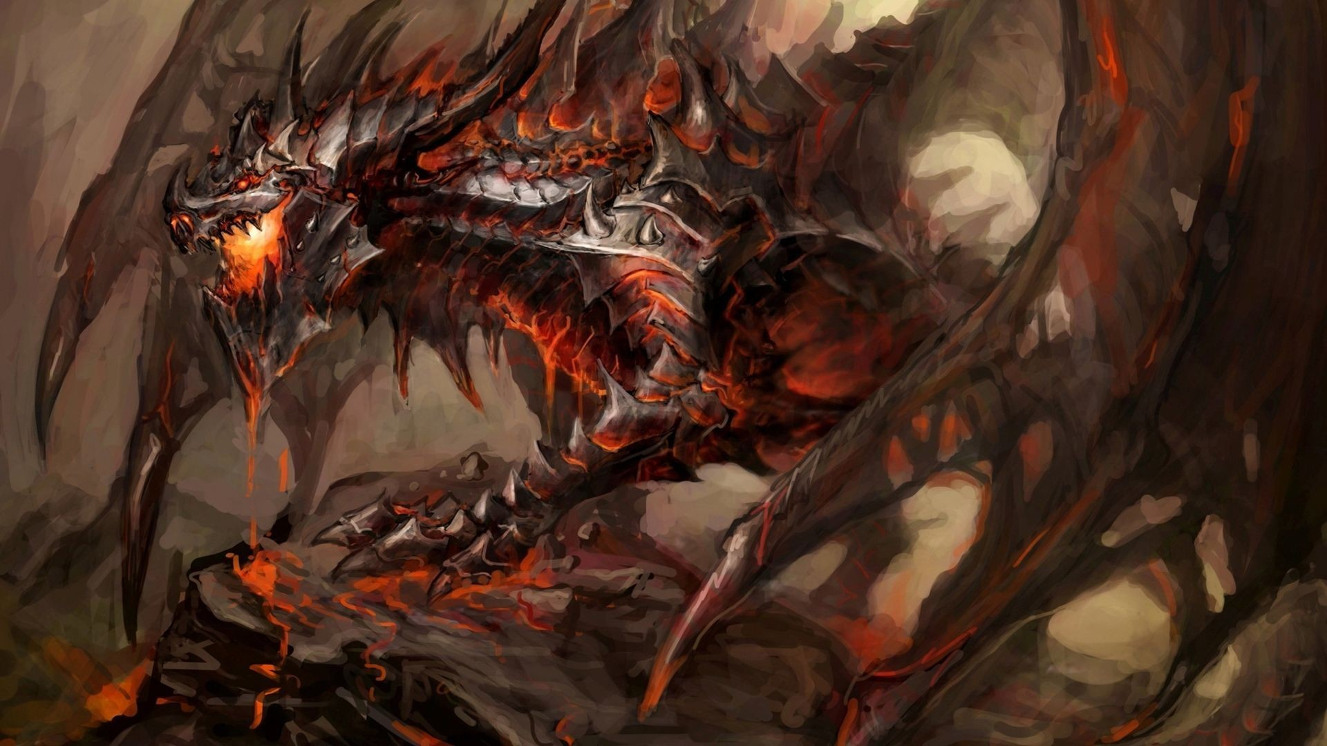 Red Fire Dragon: Red And Black Dragon Wallpaper (64+ Images