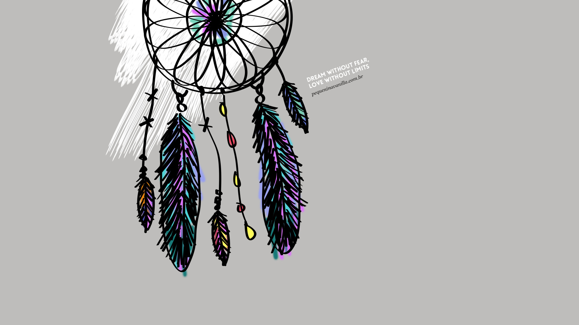 1920x1080 Grey illustrated dreamcatcher Dream Love desktop wallpaper background |  iPhone and desktop wallpapers | Pinterest | Wallpaper backgrounds and  Wallpaper