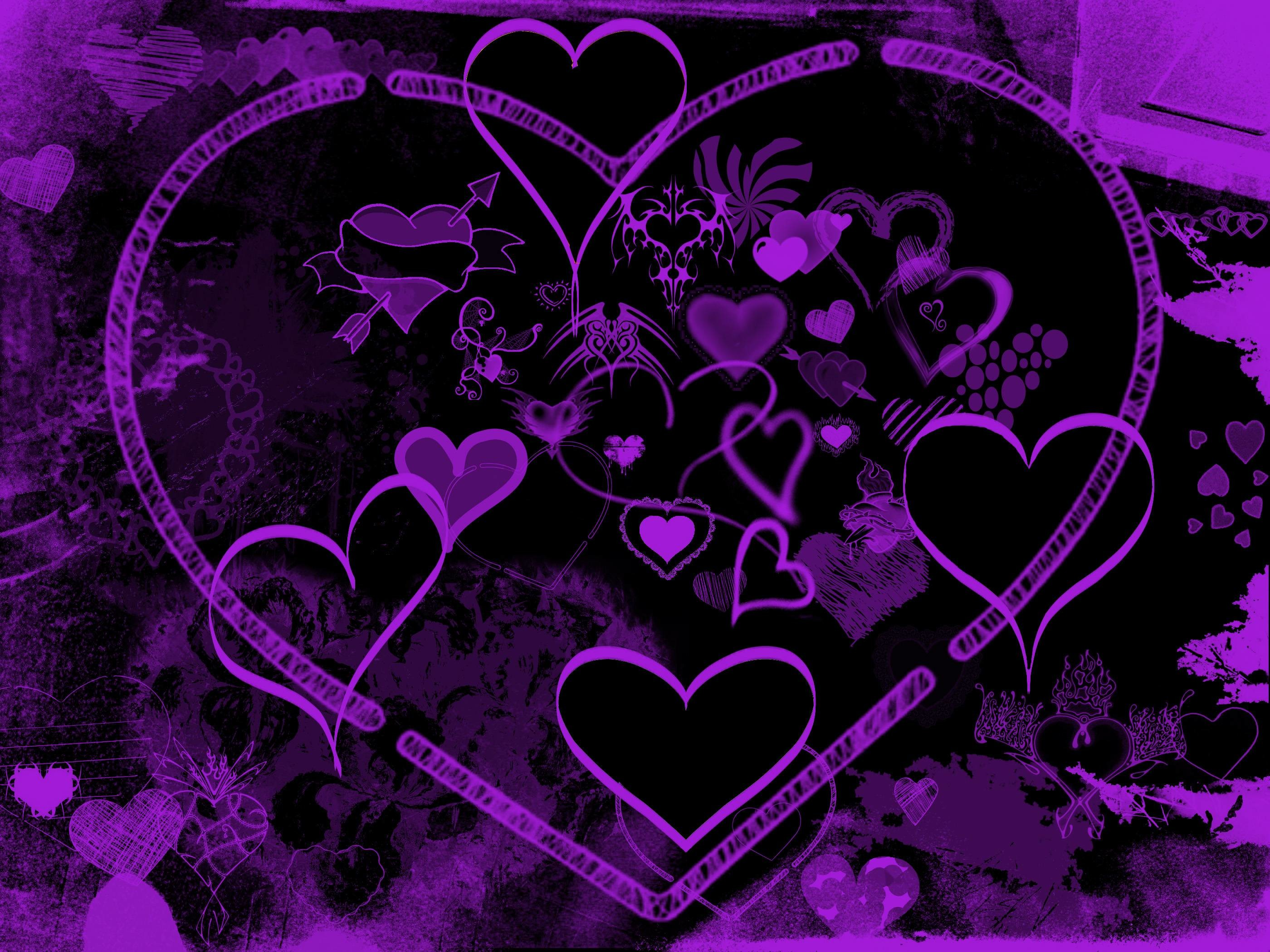 2800x2100 Purple Hearts Wallpaper by lavadragon on DeviantArt