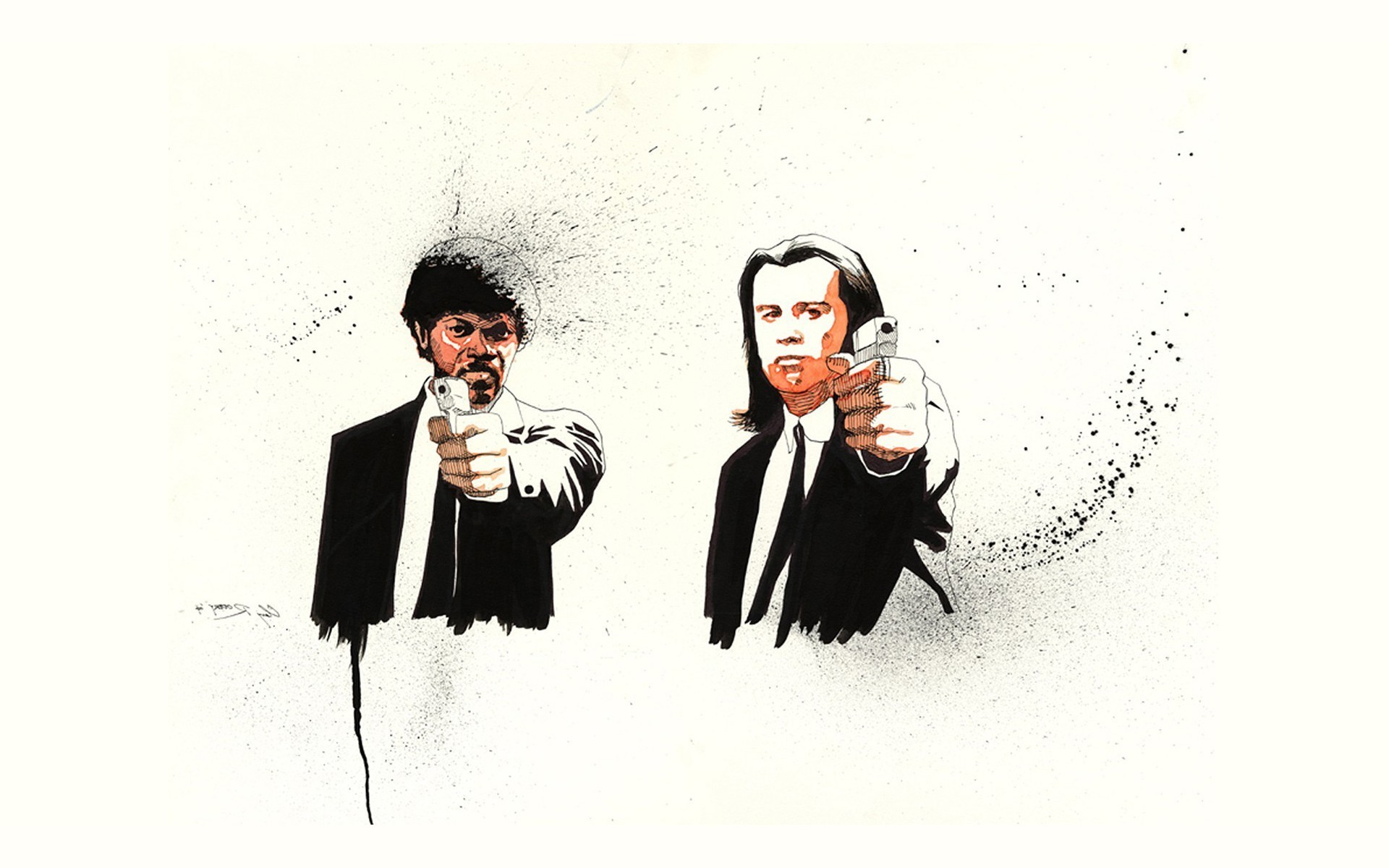 1920x1200 Pulp Fiction, Fan Art, Quentin Tarantino, Movies, Samuel L. Jackson Wallpapers  HD / Desktop and Mobile Backgrounds