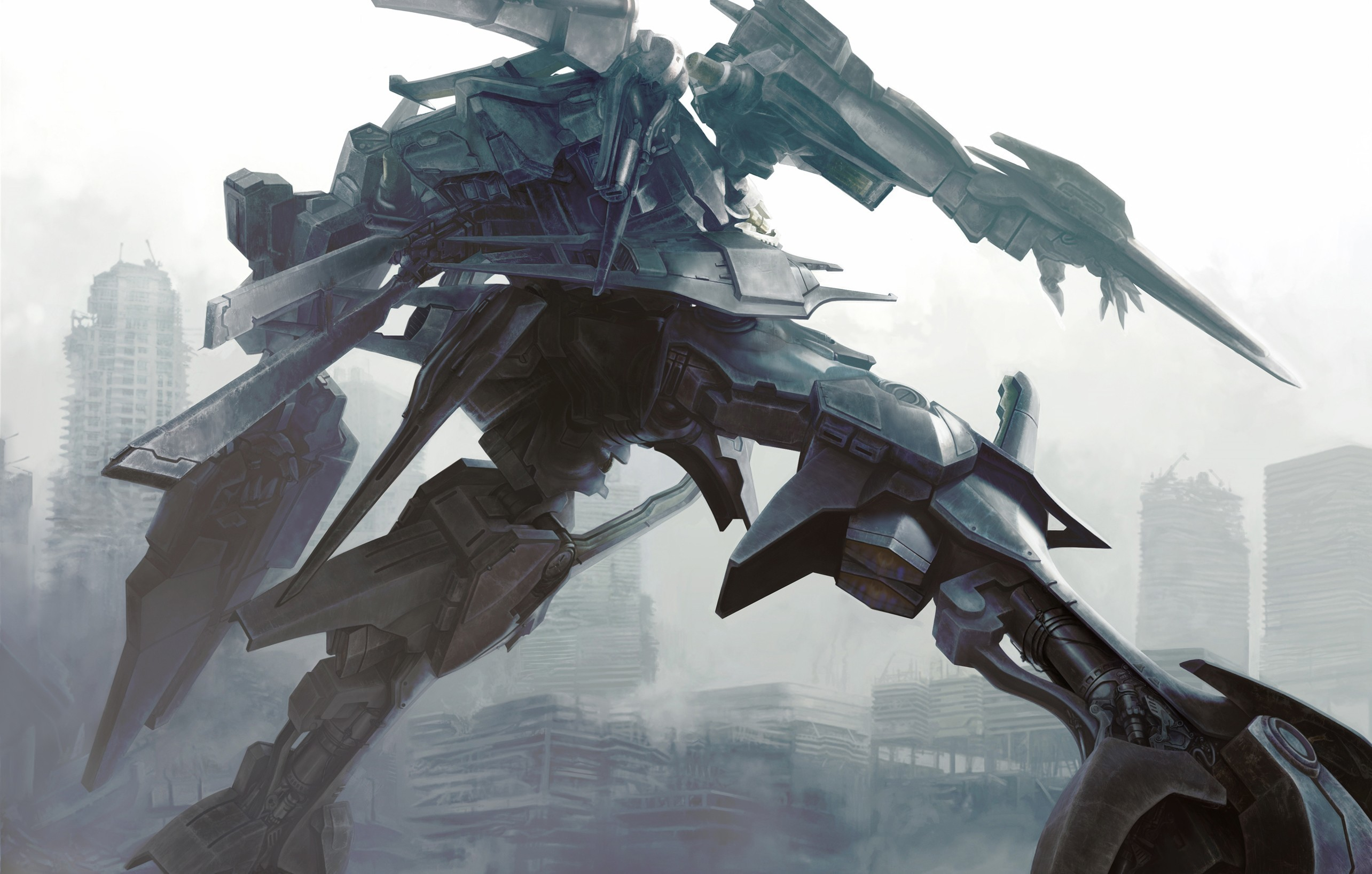 2569x1637 Anime Armored Core Artwork Fantasy Art Mecha Robots free iPhone or Android  Full HD wallpaper.