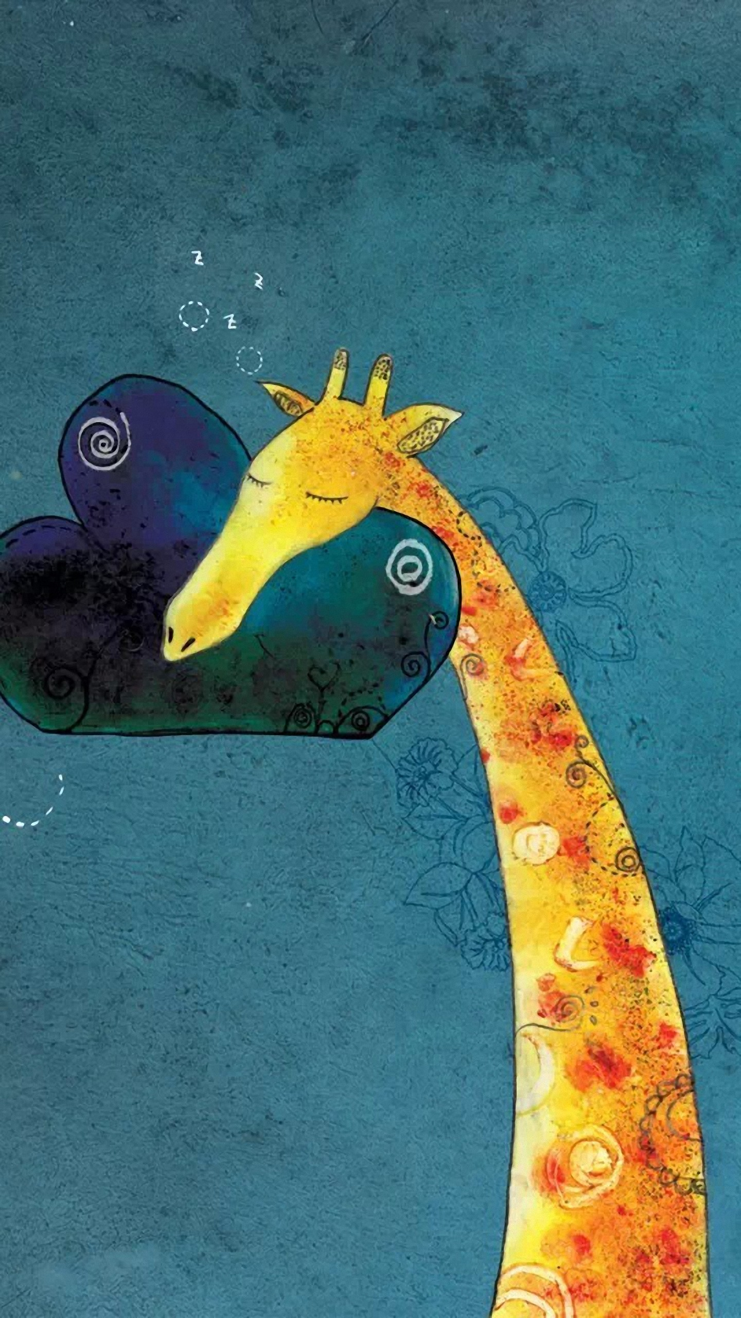 1440x2560 Customize your Galaxy with this high definition Giraffe Pillow wallpaper  from HD Phone Wallpapers!