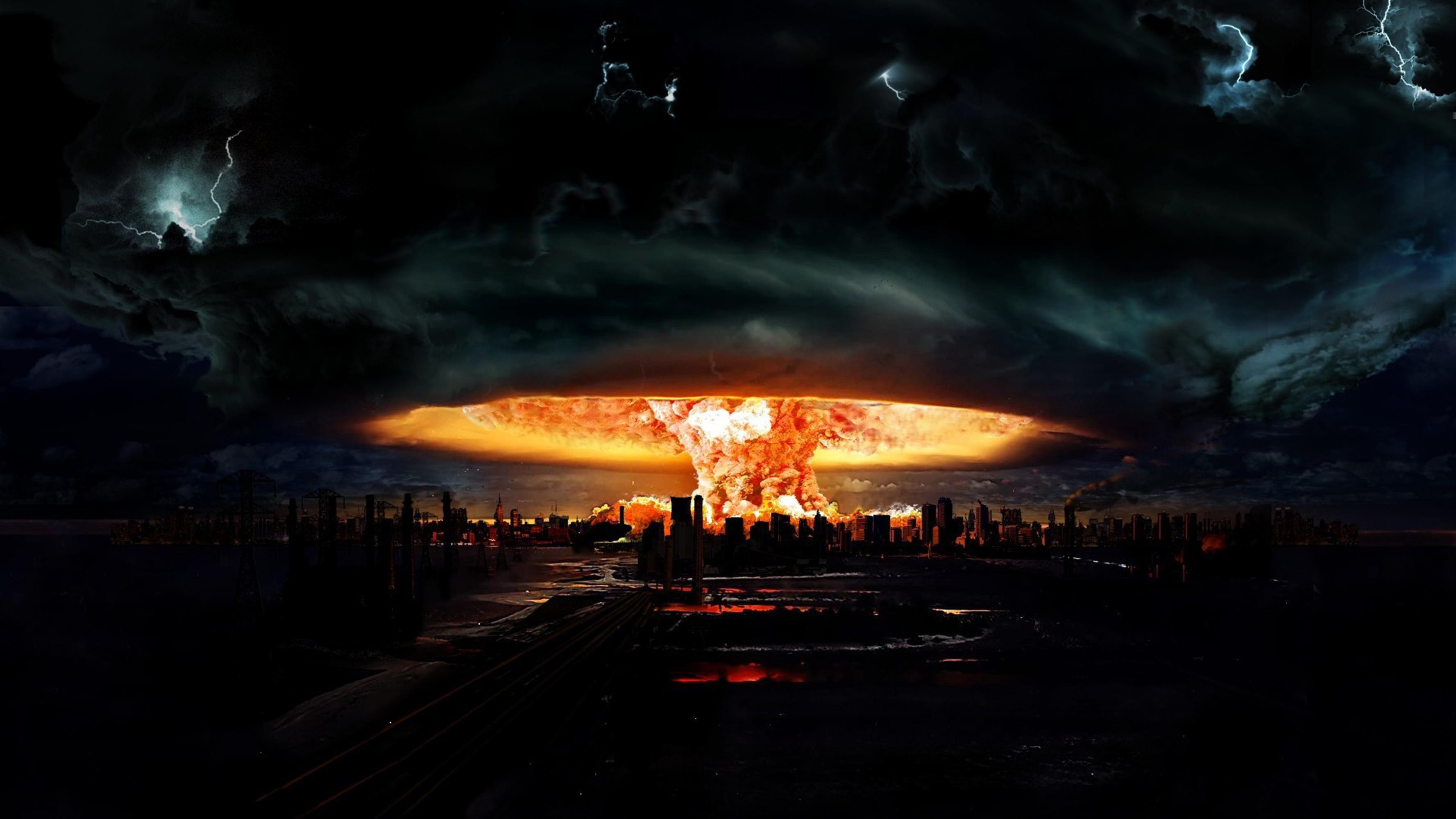 3554x1999 Nuclear Explosion Wallpaper Hd