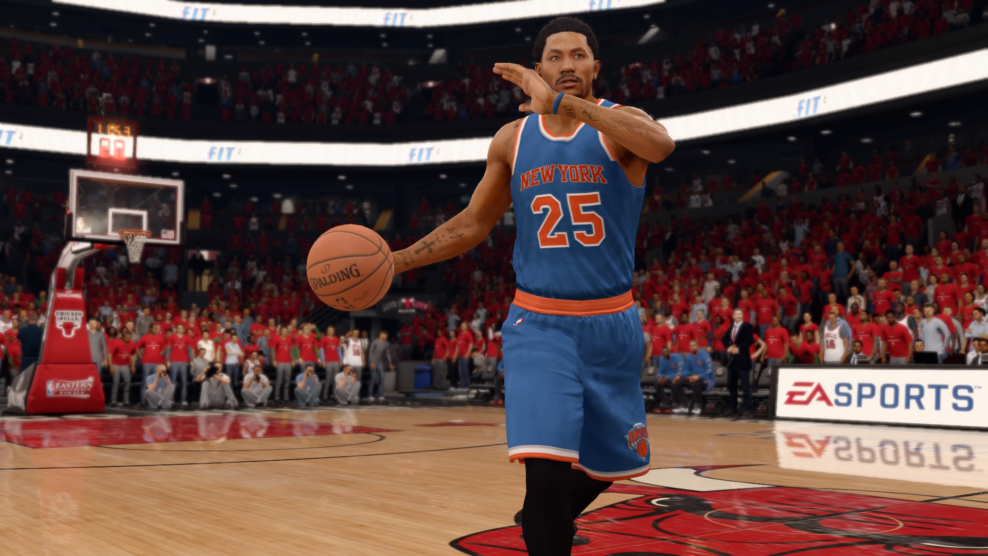 1920x1080 Derrick Rose on the New York Knicks in NBA Live 16