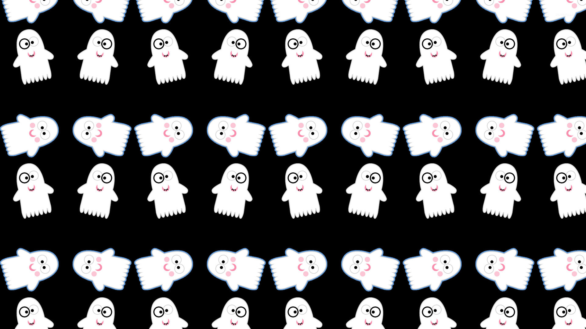 1920x1080 Cute ghost pattern wallpaper - Holiday wallpapers - #24315