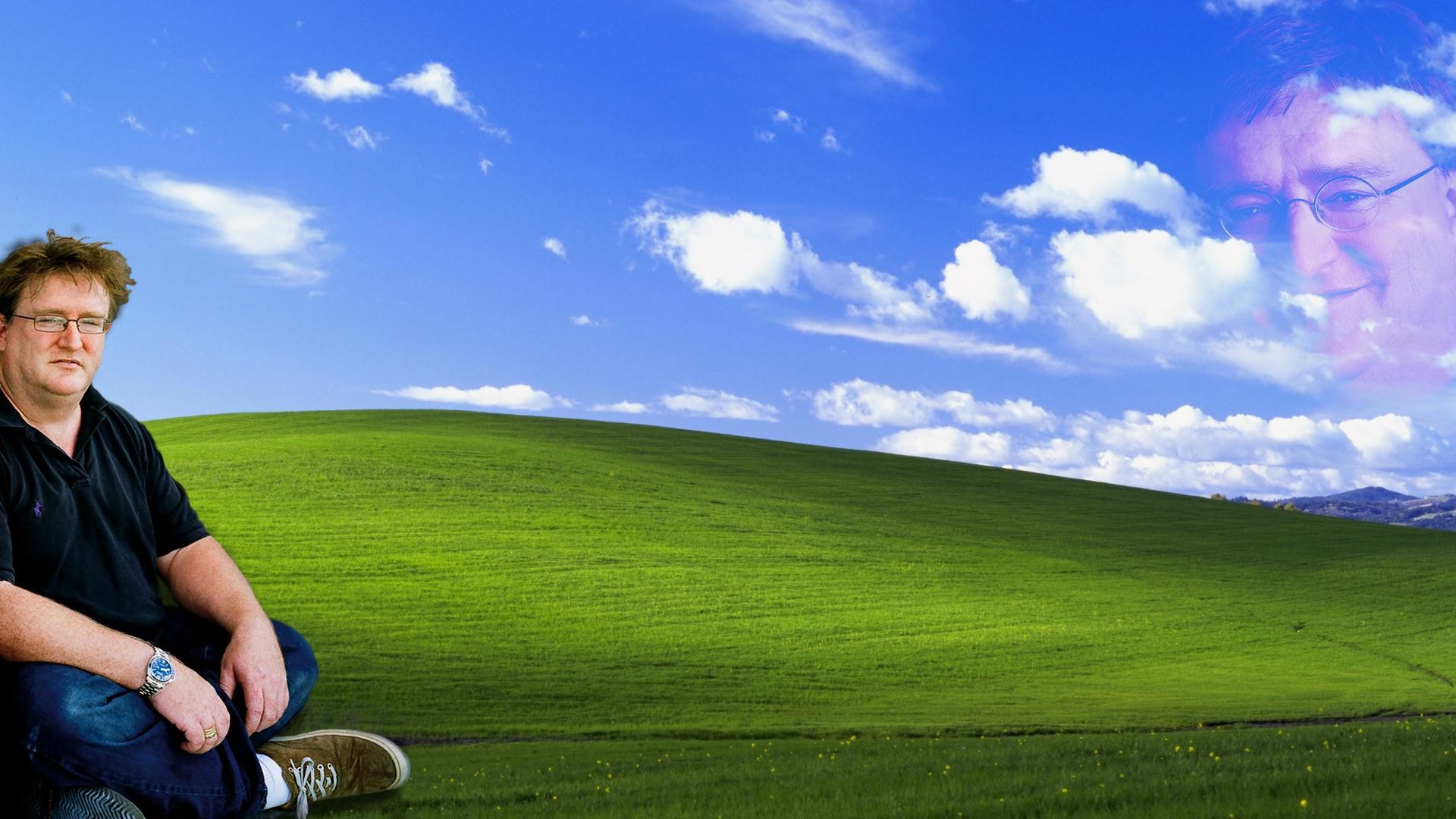 1920x1080 The lord shall protect Windows XP users after the MS heathens have  abandoned their herd [OC] ...
