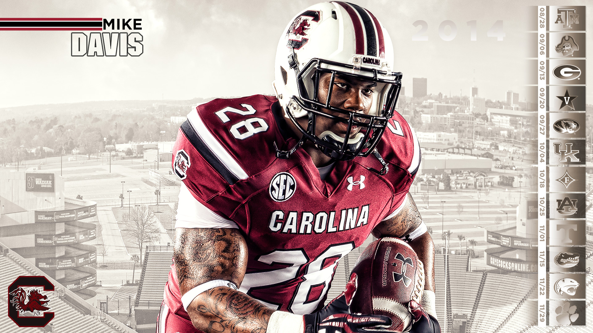 1920x1080 Gamecocks Wallpapers 1920x1200. View 0. University of South Carolina  Official Athletic Site