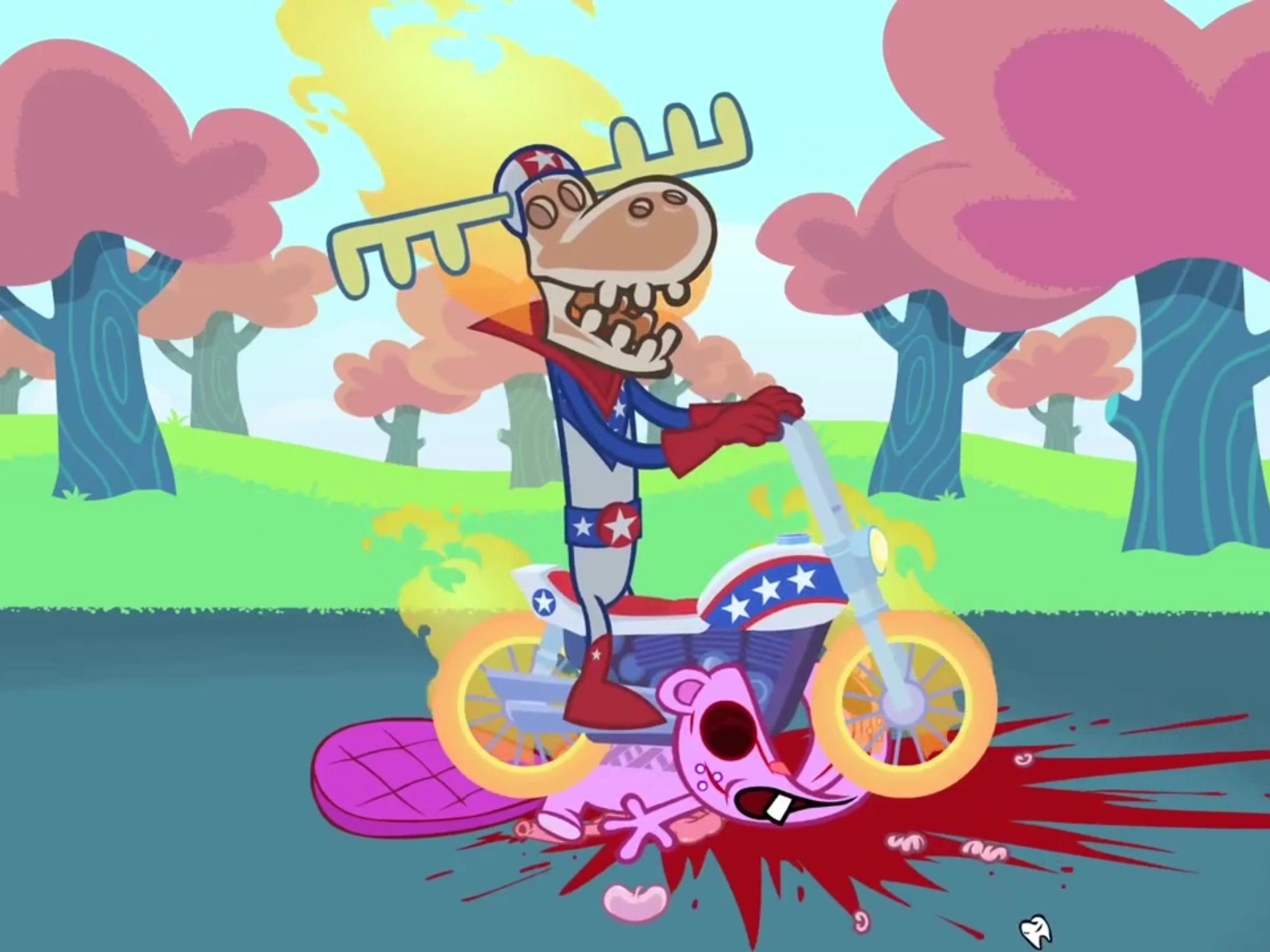 2048x1536 Happy Tree Friends Toothy and Lumpy
