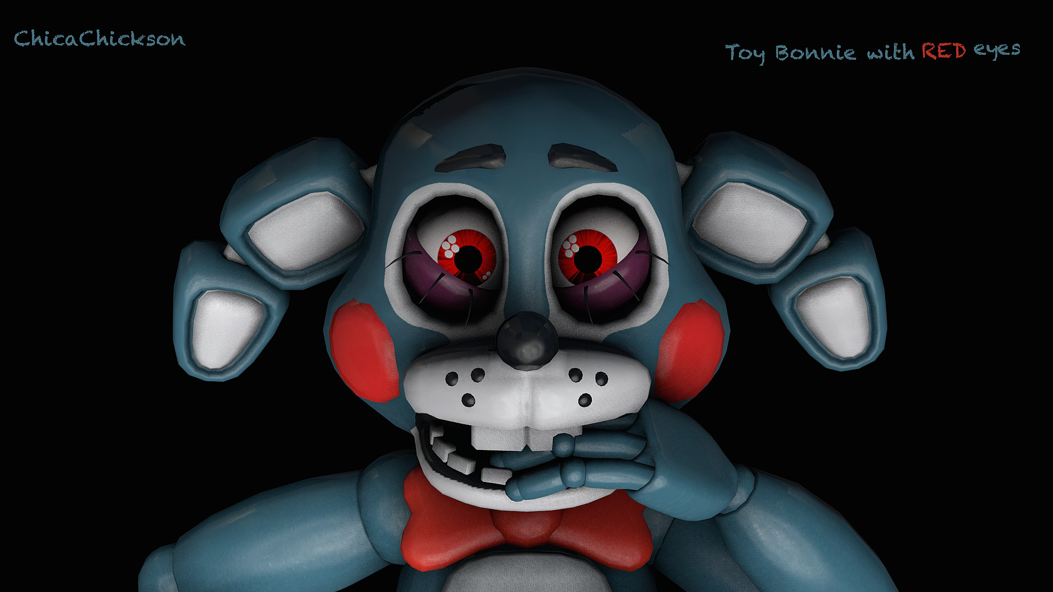 2133x1200 ... FNAF] Toy Bonnie with Red eyes by ChicaChickson