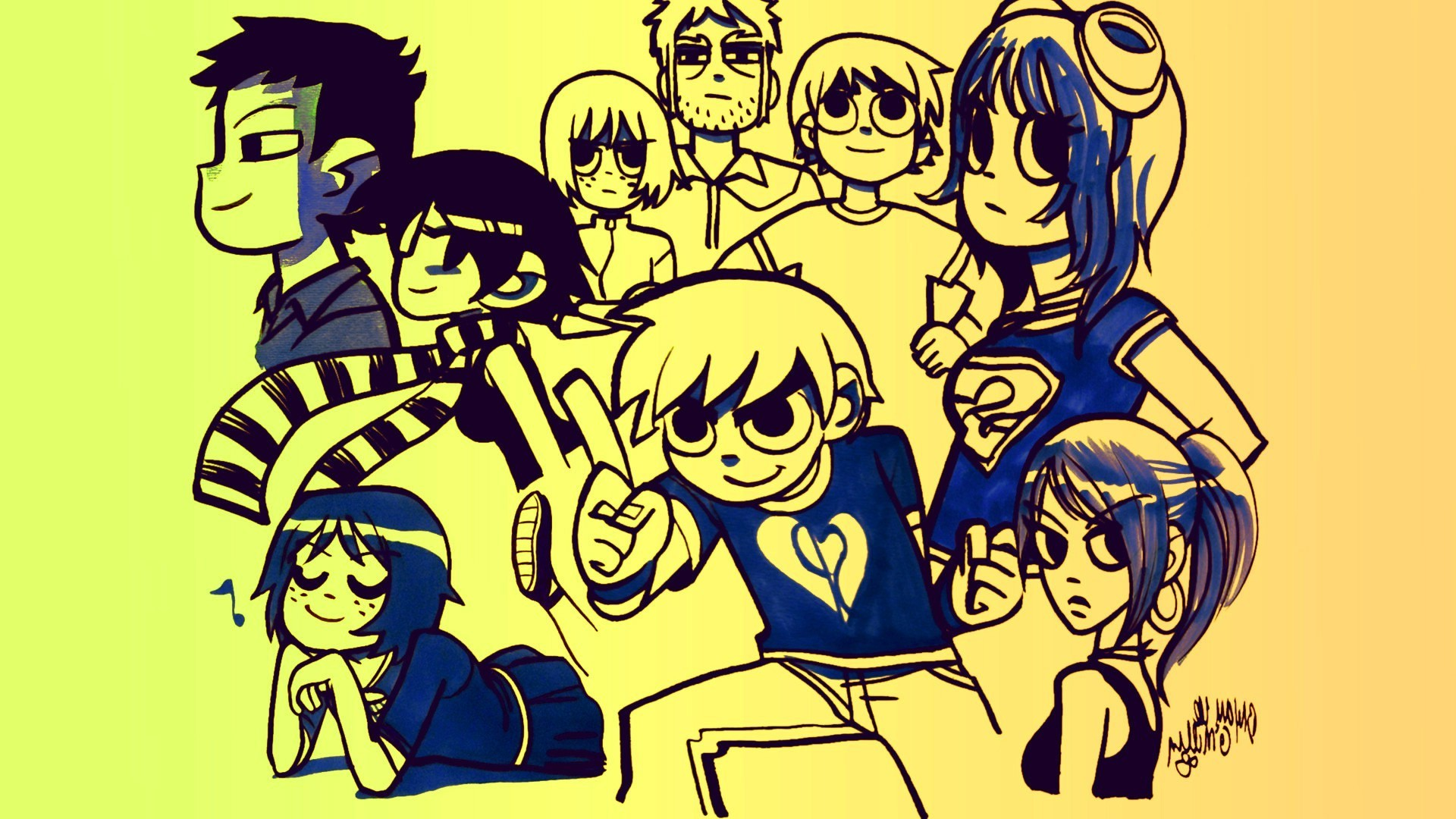 1920x1080 Scott Pilgrim Vs. The World, Scott Pilgrim, Comics, Graphic Novels .