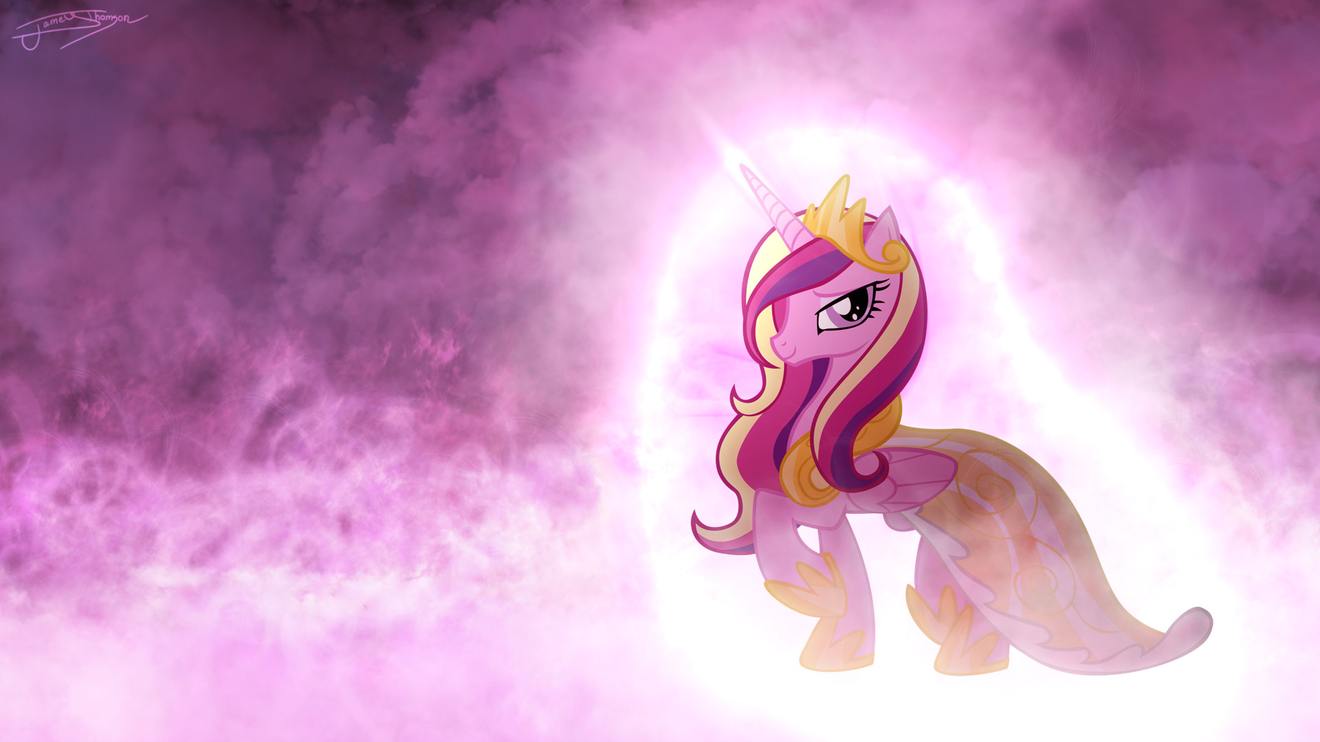 1920x1080 princess cadence serene clouds by jamey4 d4t2di7