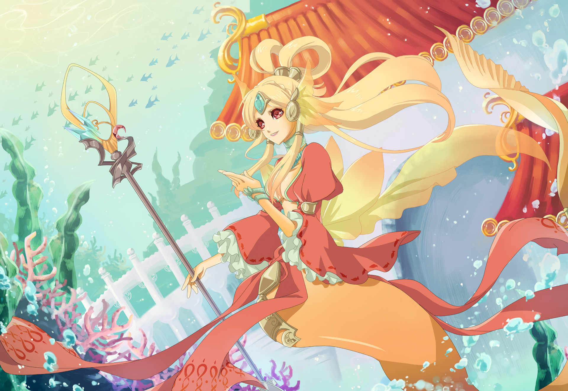 1920x1324 Nami (Skin Concept) by 柿P HD Wallpaper Fan Artwork League of Legends lol