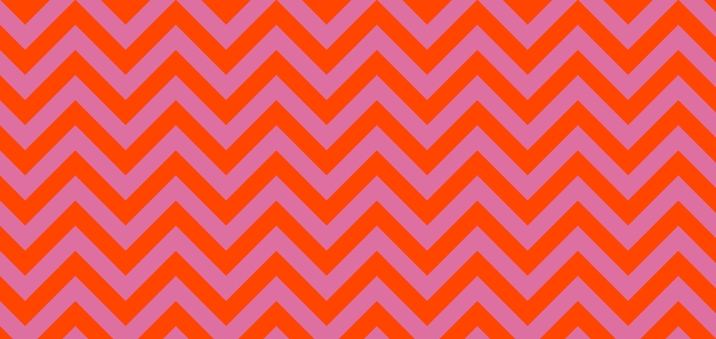 2280x1080 #DE70A1 Chinese Pink #FF4500 Orange Red Wide Chevron Background
