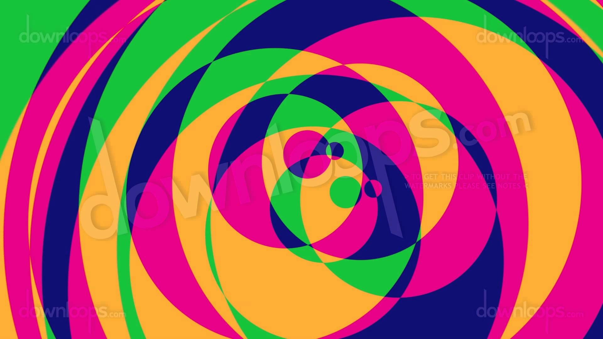 1920x1080 Psychedelic Circles 2 - Colorful Graphical Motion Background Video Loop -  YouTube