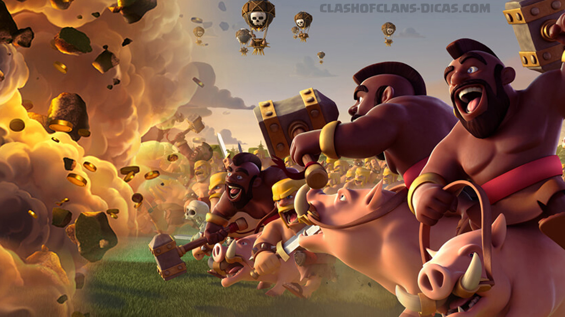1920x1080 Wallpaper Clash of Clans HD - Exclusivos Korea posters
