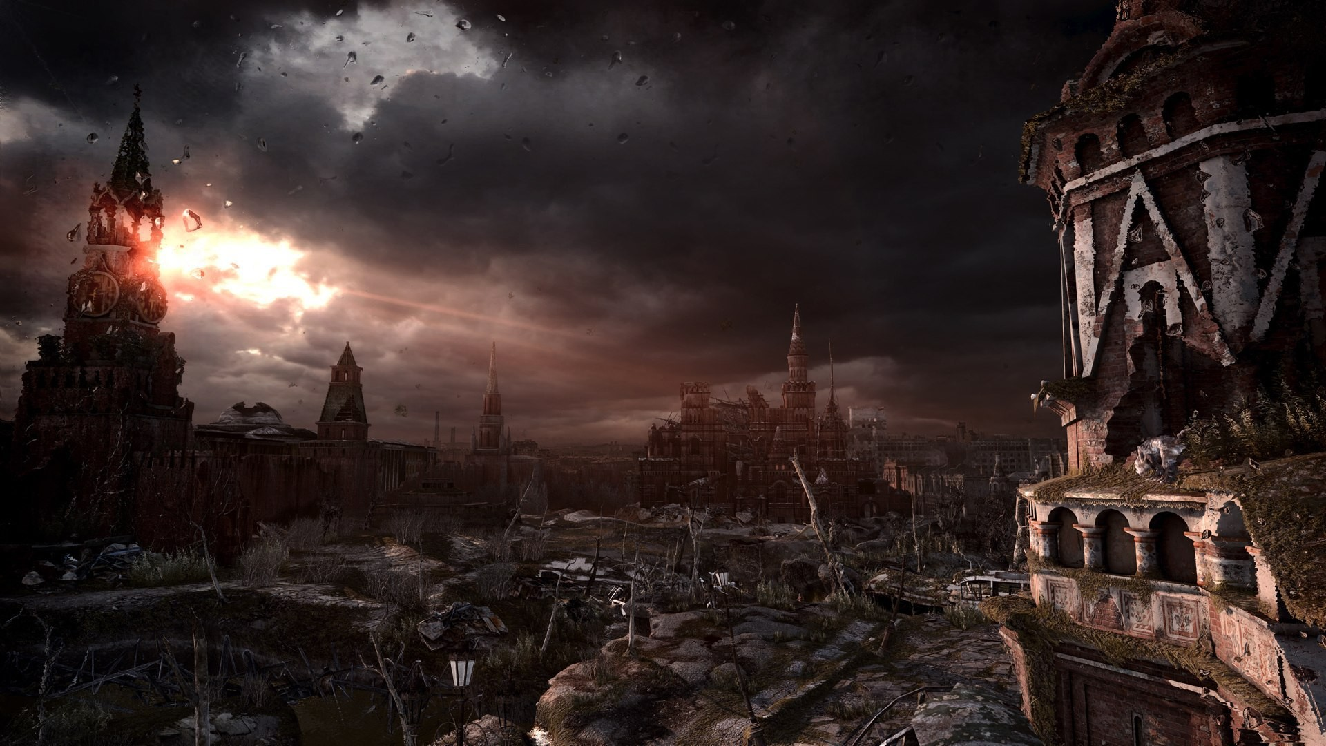 1920x1080 The center of Moscow after the war wallpapers and images - wallpapers,  pictures, photos