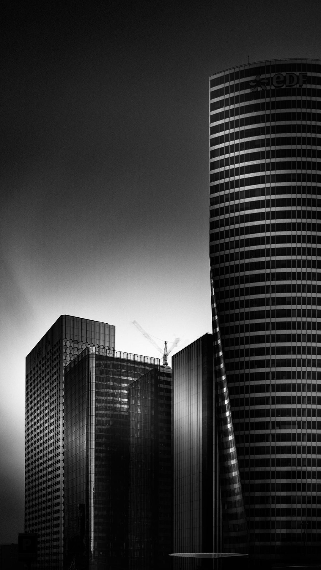 1080x1920 Black And White City HD Android Wallpaper ...