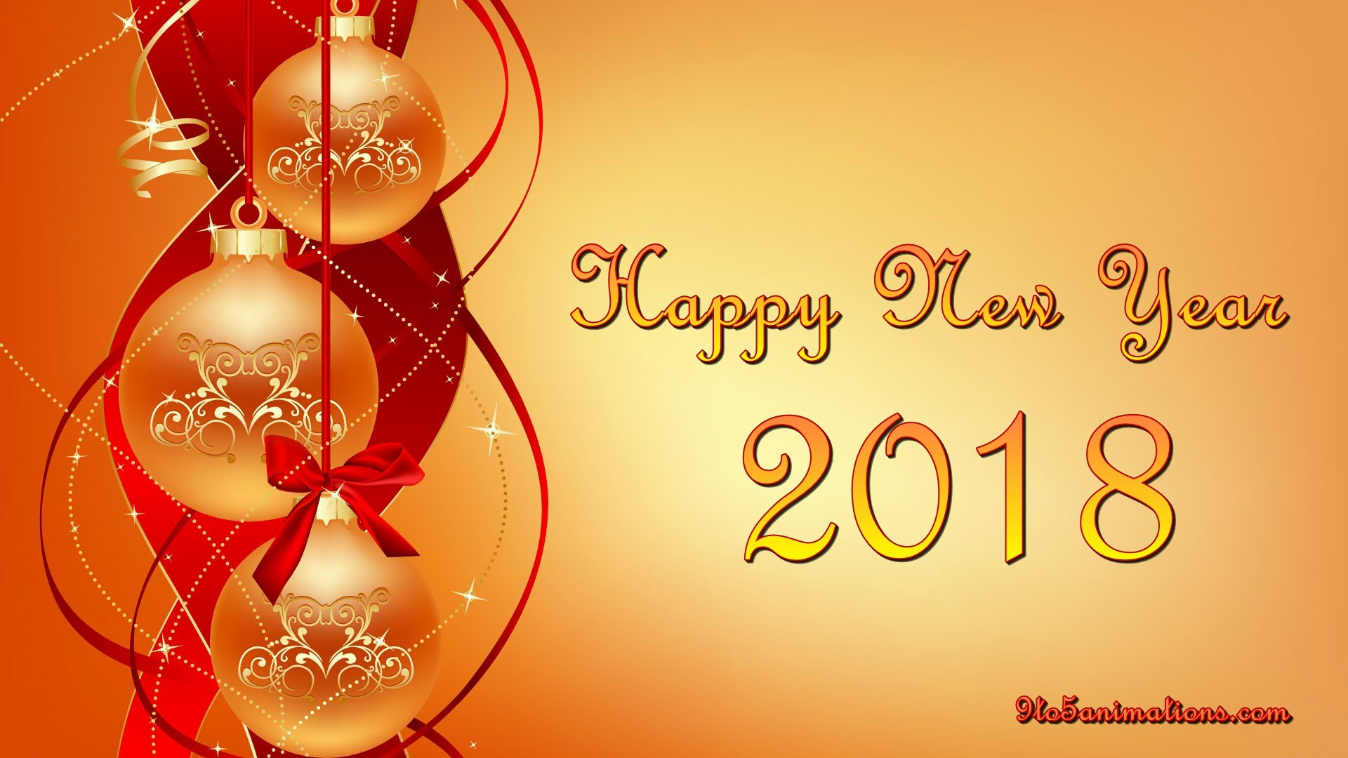 1920x1080 New Year Red Theme Wallpapers HD 9To5AnimationsCom