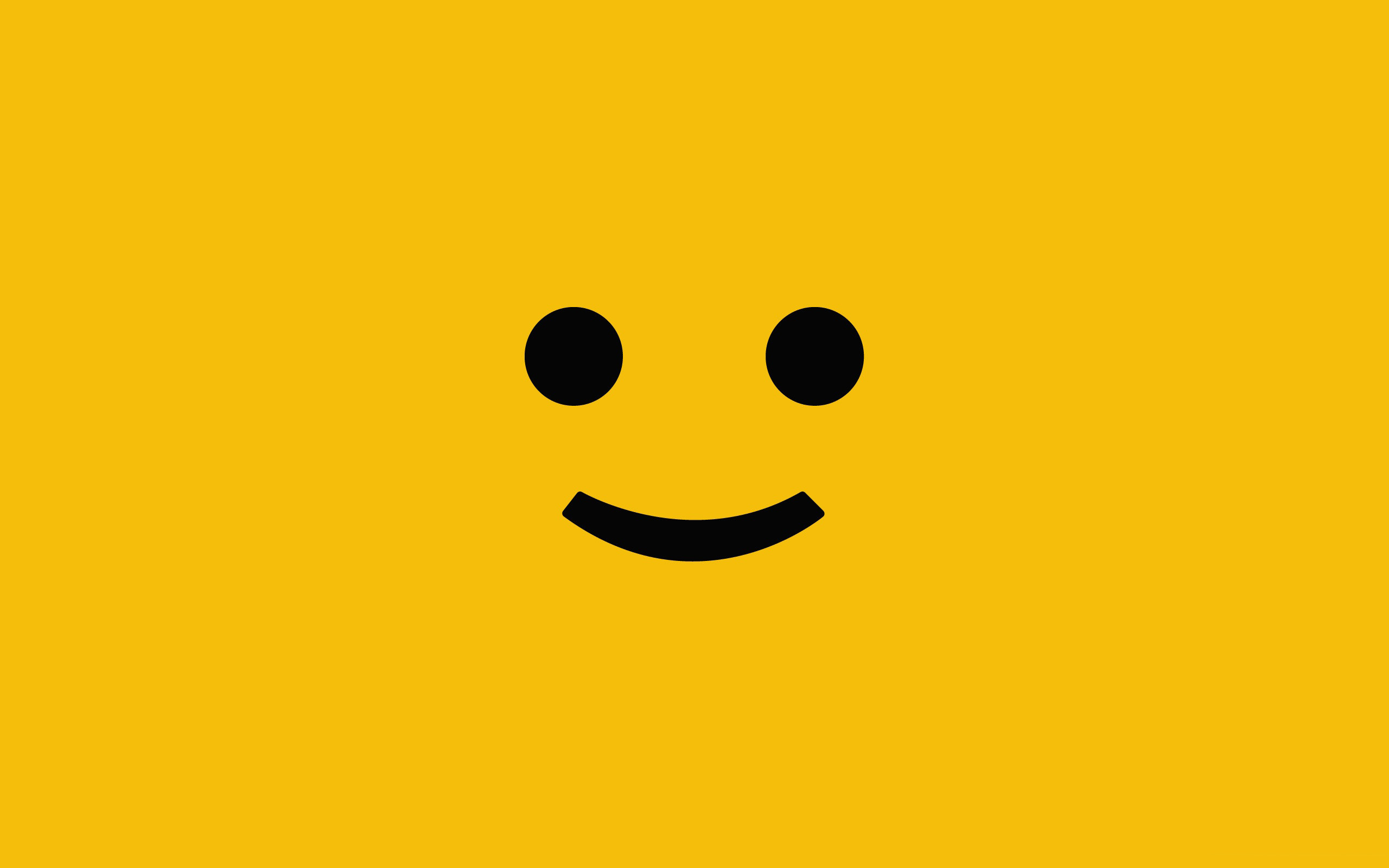 2560x1600 Worried Smiley Face