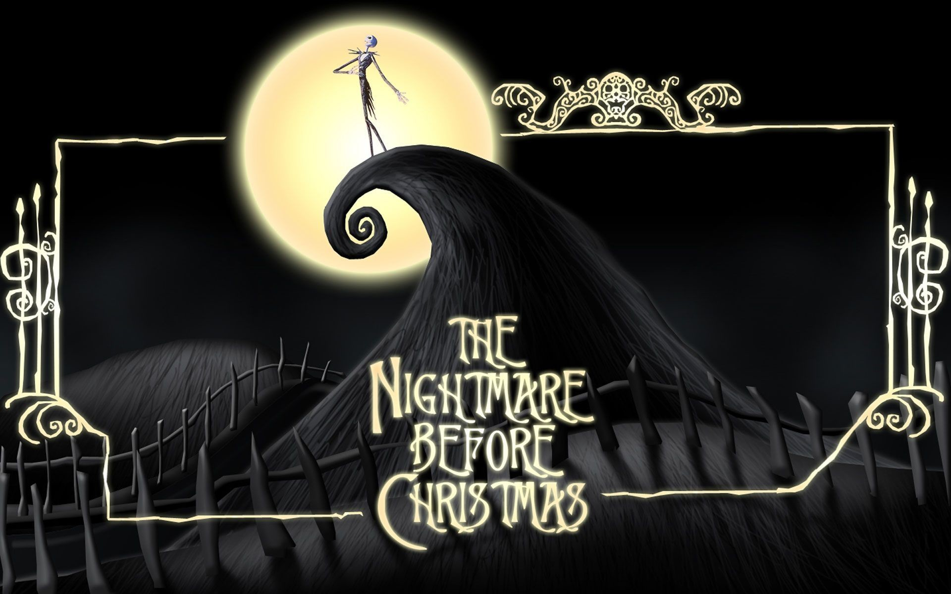 1920x1200 nightmare before christmas wallpapers hd wallpaper cave - Nightmare On Christmas