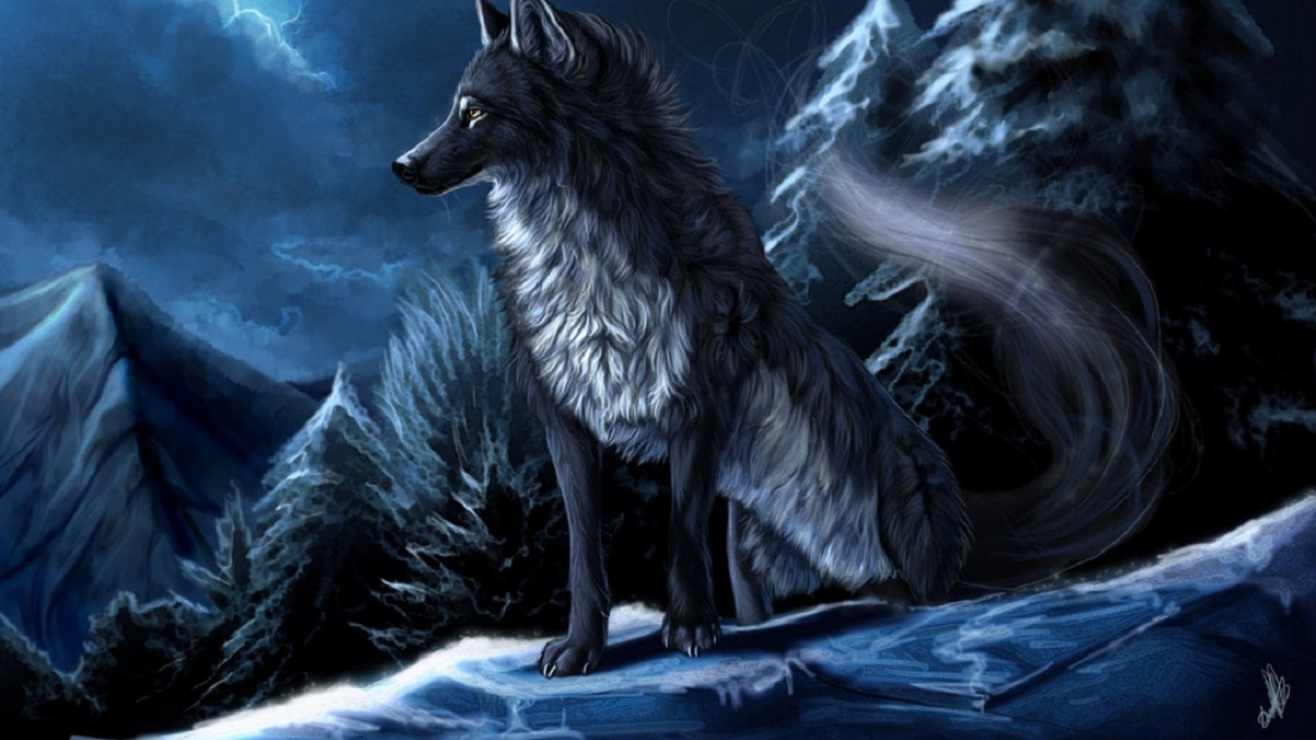 1987x1244 Monster Fantastic World Fantasy Wolf Wolves Werewolf Wallpaper At Wallpapers