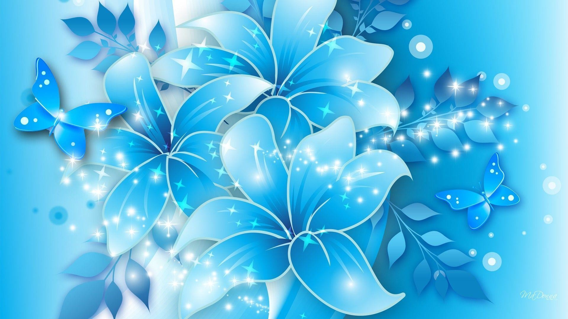1920x1080 Wallpapers For > Light Blue Flower Background Design