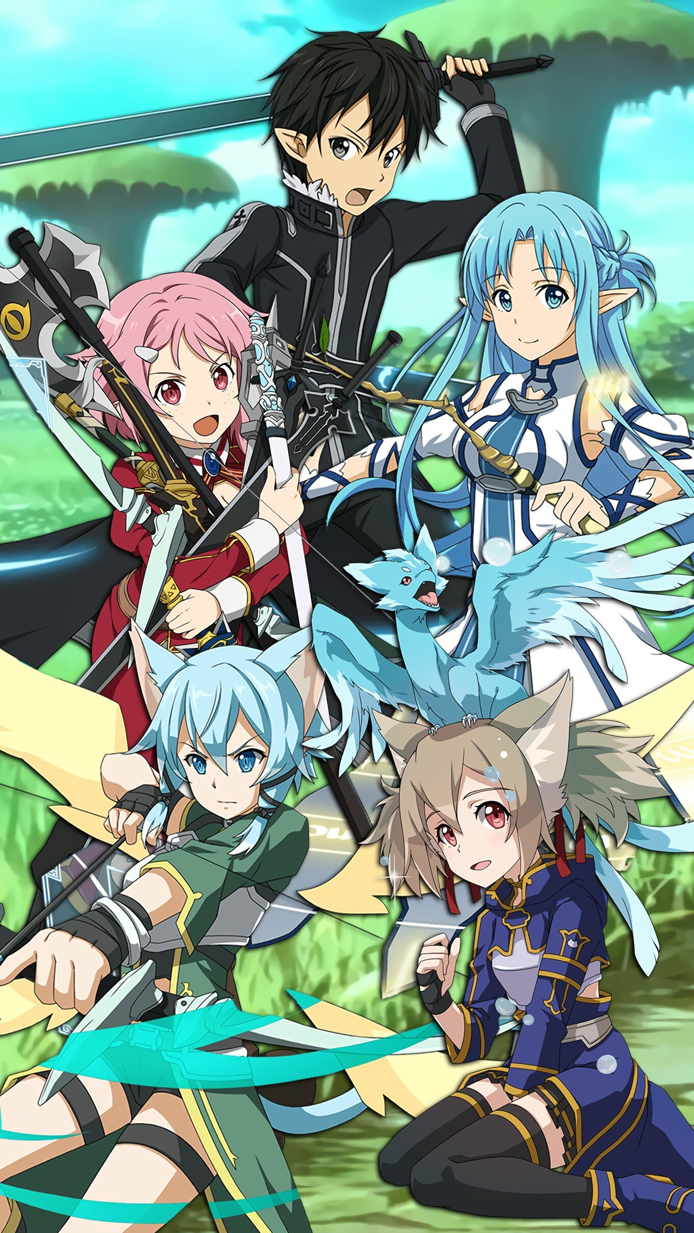 sword art online wallpaper iphone