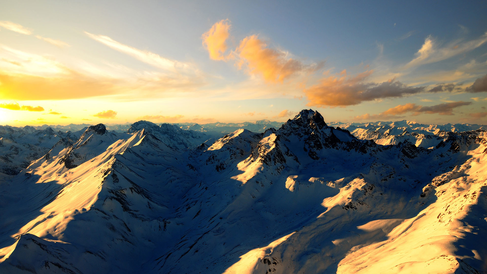 1920x1080 Free Desktop Wallpapers Backgrounds Snow Mountain Wallpapers