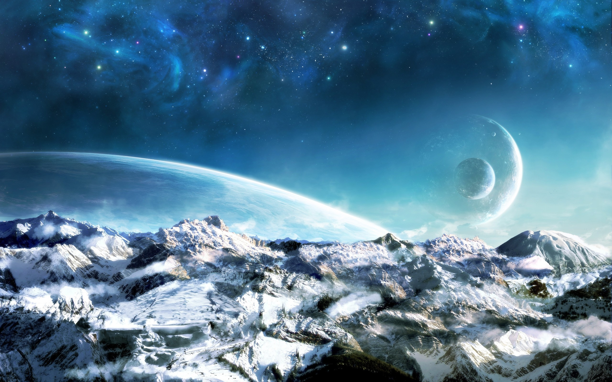 2560x1600 Description Download Dreamy World Landscape Hi Res Background