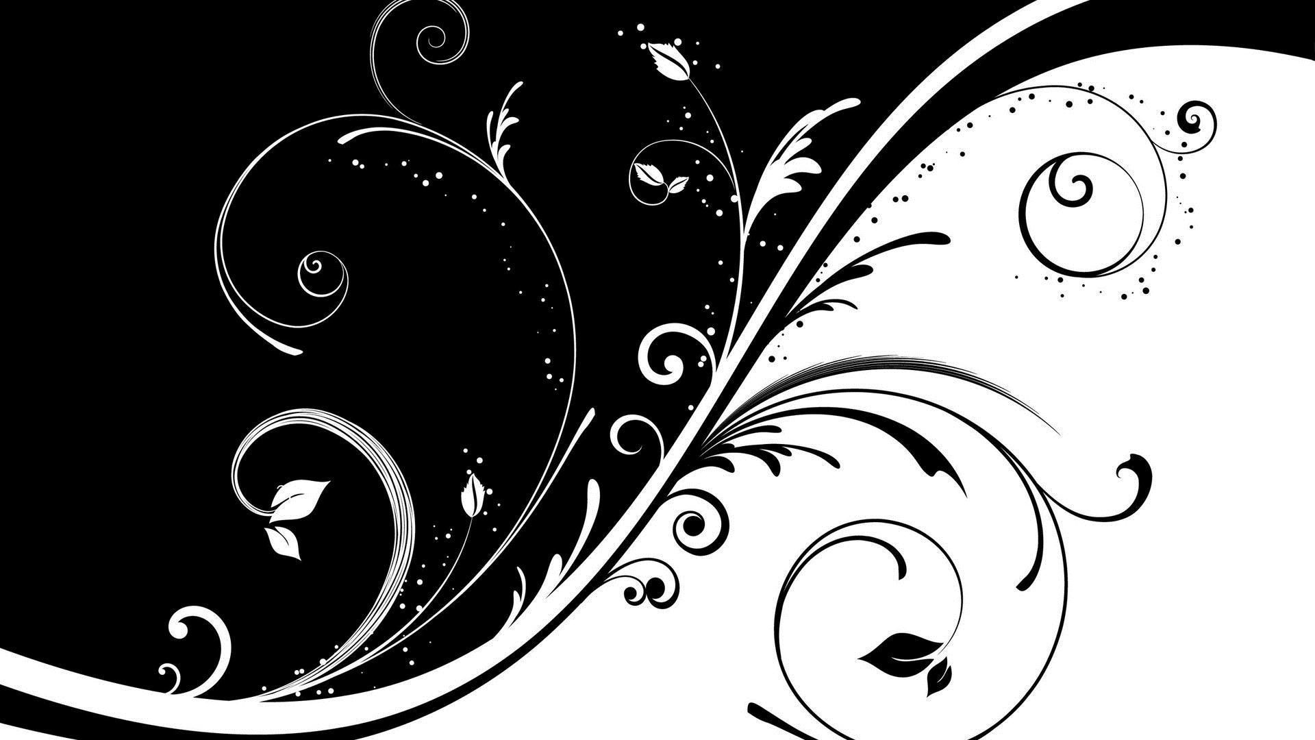 1920x1080 Download Black And White Abstract Hd Wallpaper