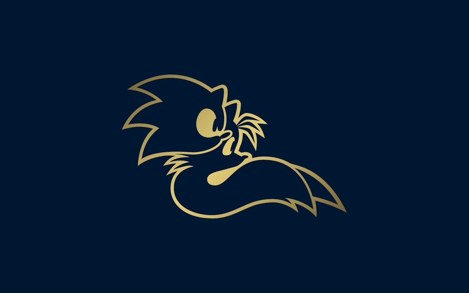 1920x1200 Sonic The Hedgehog, Tails (character), Minimalism, Video Games