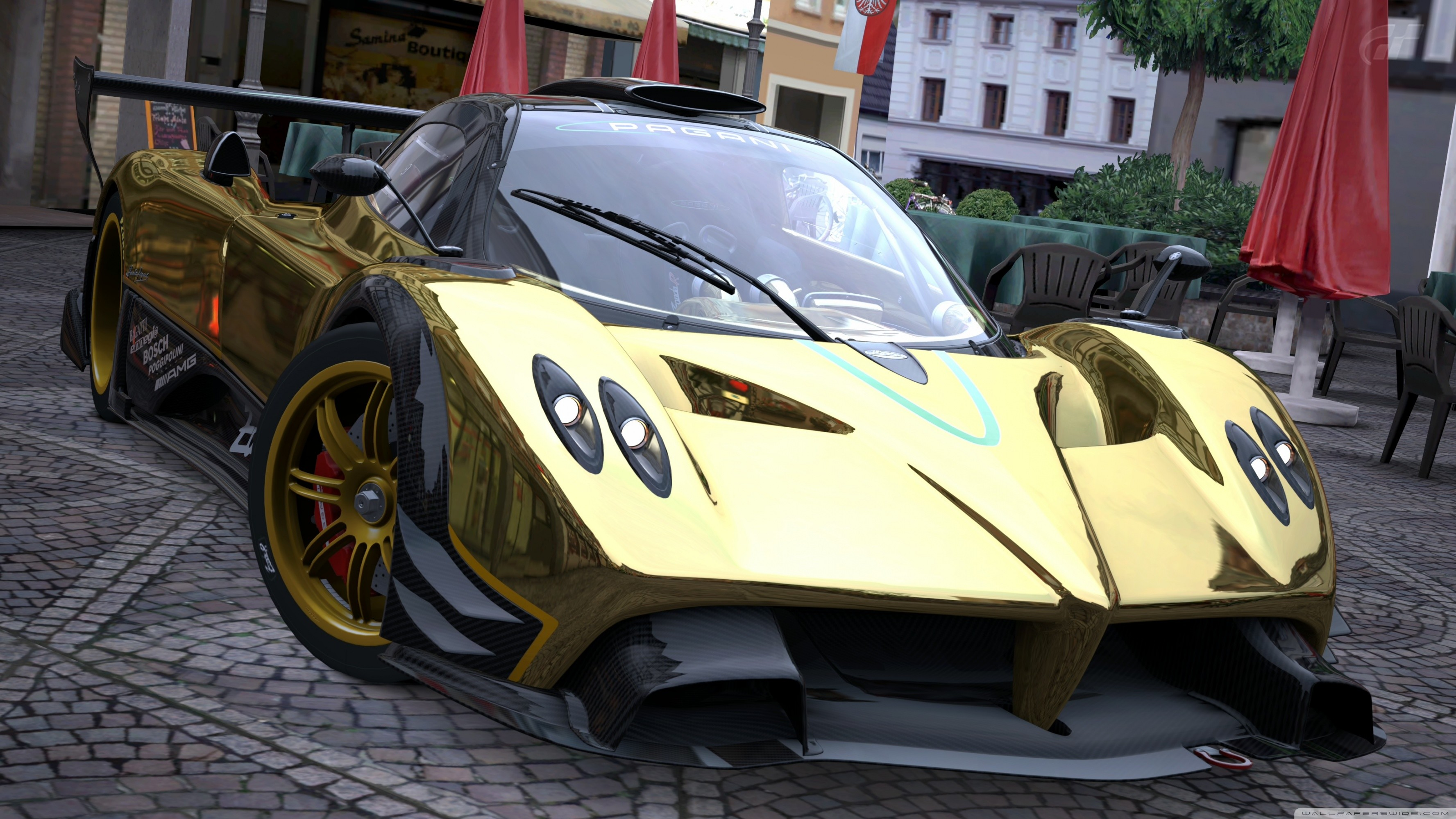 3554x1999 ... Pagani Zonda R Gold HD HD Wallpaper  Download ...