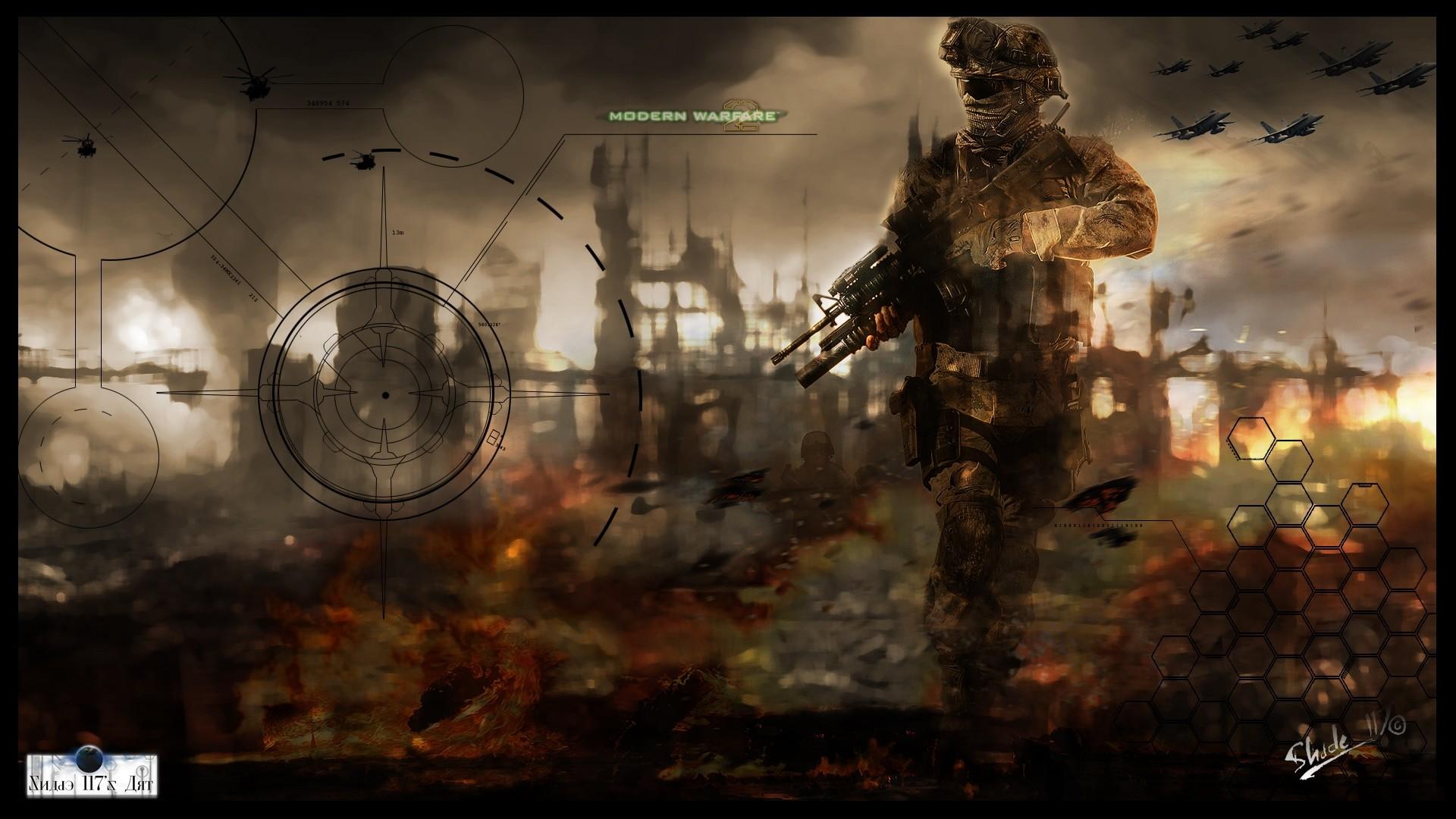1920x1080 Wallpaper Call Of Duty Modern Warfare 2 Soldier Gun Fighters