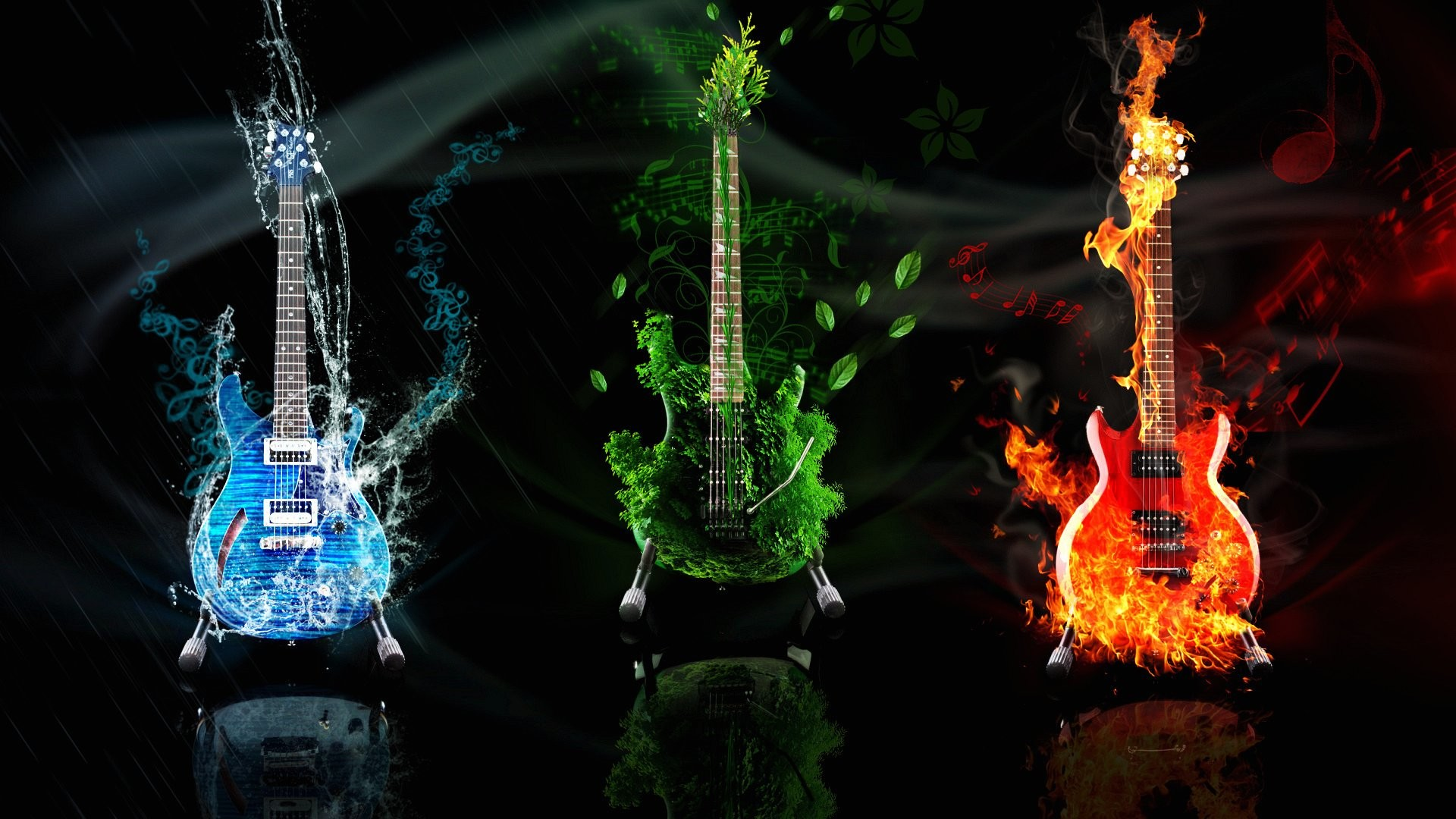 1920x1080 Wallpaper guitars music abstract 1920 x 1080 full hd