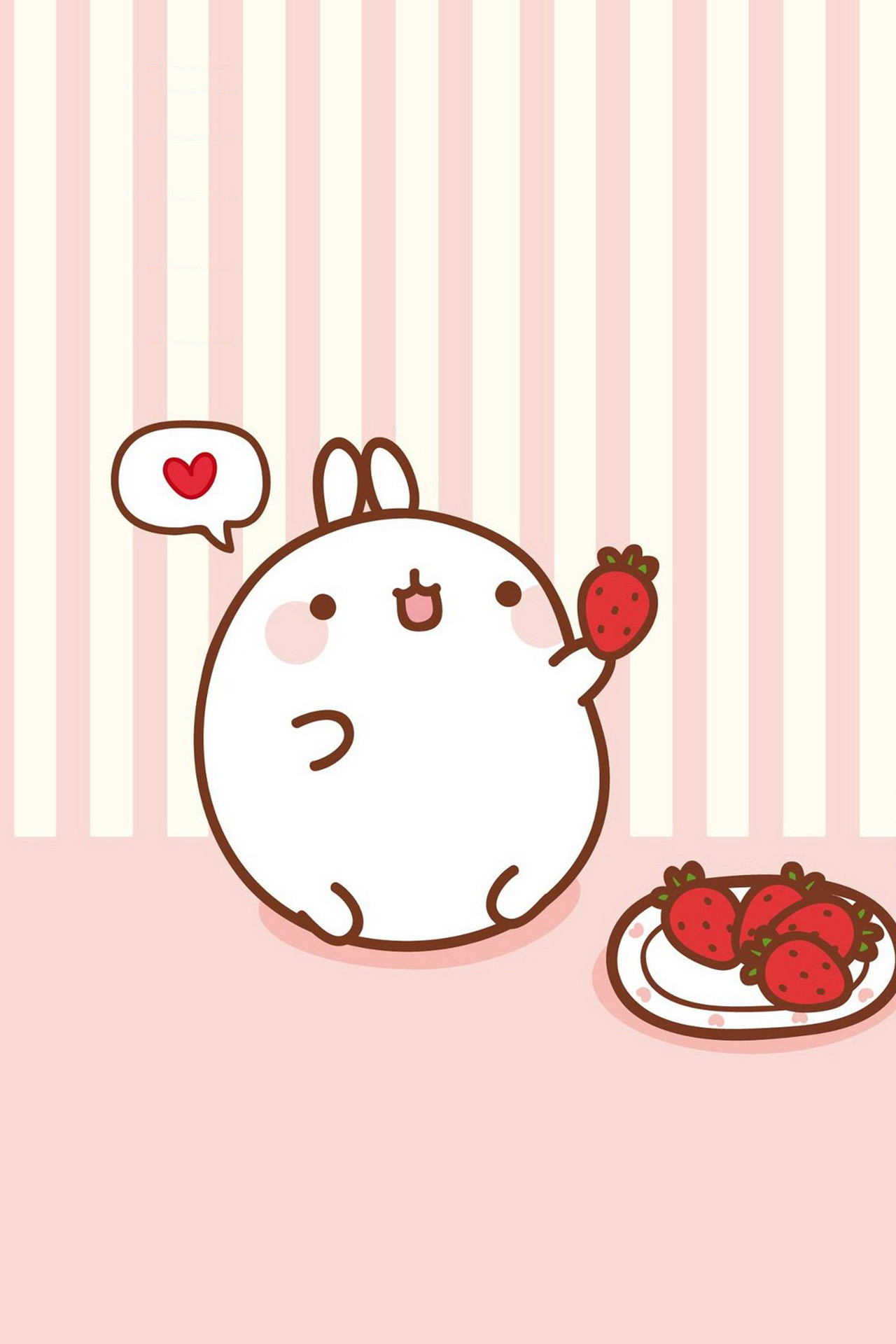 1280x1920 Molang ☆ Find more super cute Kawaii wallpapers for your #iPhone + #Android  @