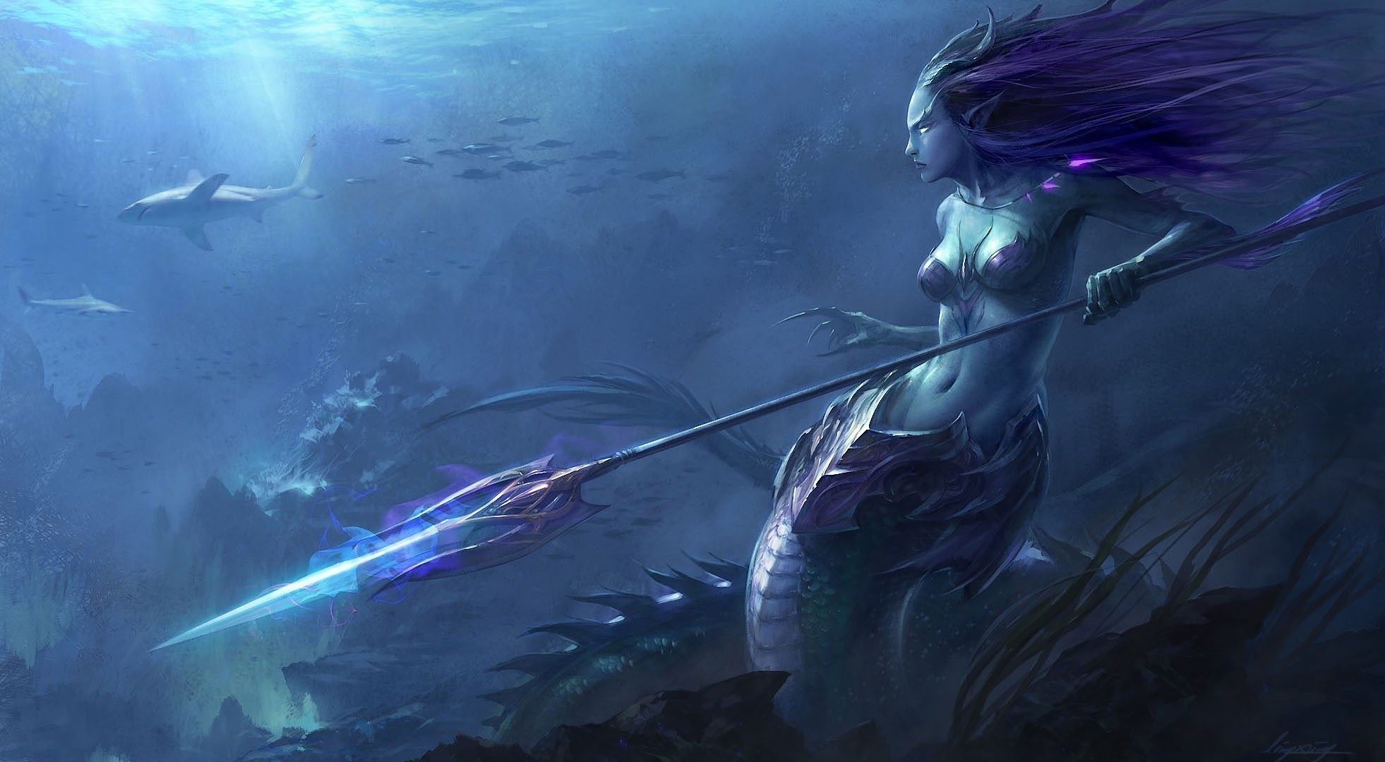 1962x1080 Fantasy - Mermaid Wallpapers and Backgrounds ID : 236911