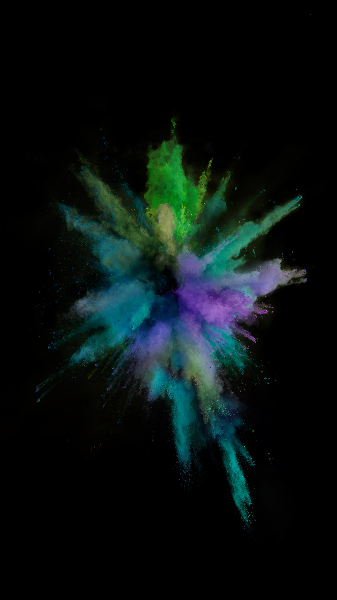 1080x1920 iOS9 Colorful Smoke Explosion Dark Art iPhone 8 wallpaper