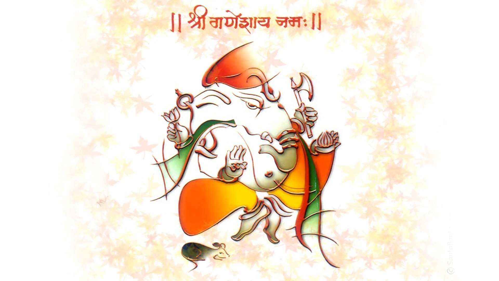 1920x1080 shree Ganeshay namah hd wallpapers