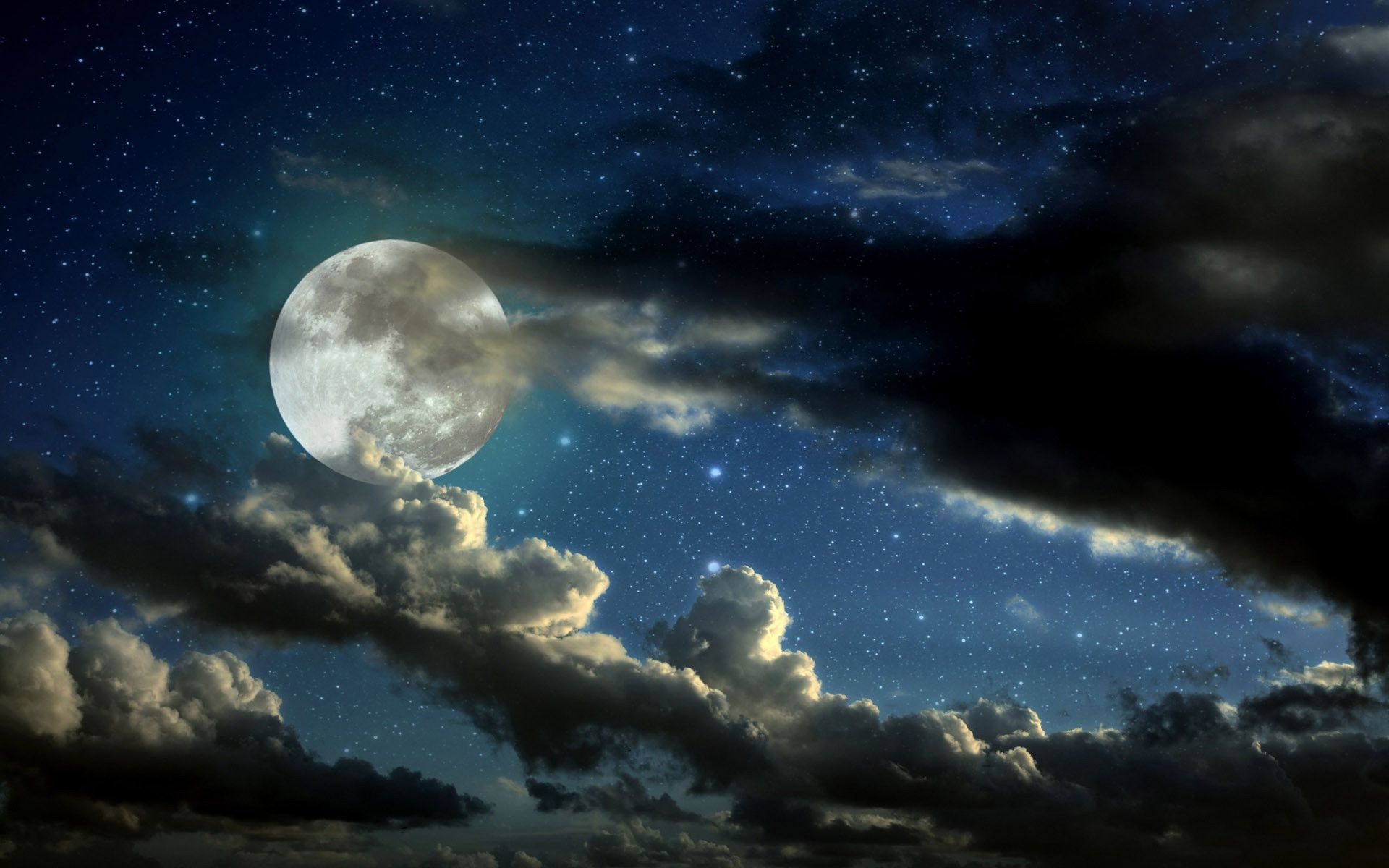 1920x1200 Gallery for Night Sky Moon. Stars Wallpaper with Images for Gt Beautiful  Night Sky