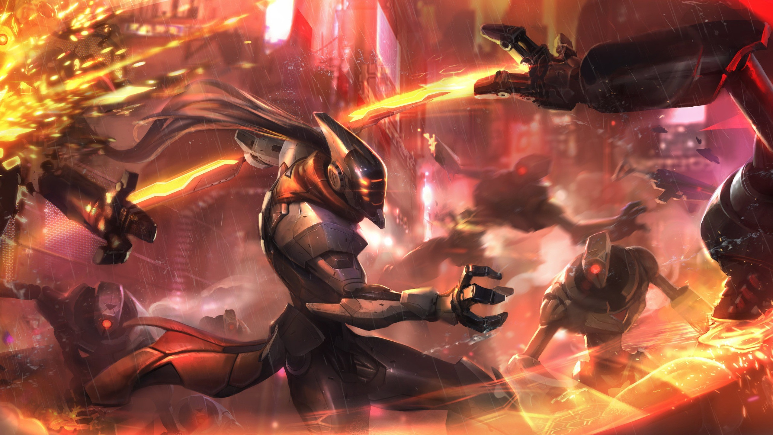 2560x1440 Download PROJECT Fiora Wallpaper Skin Art Fighting 1920x1080 | Places to  Visit | Pinterest | Skin art, Cosplay and Anime