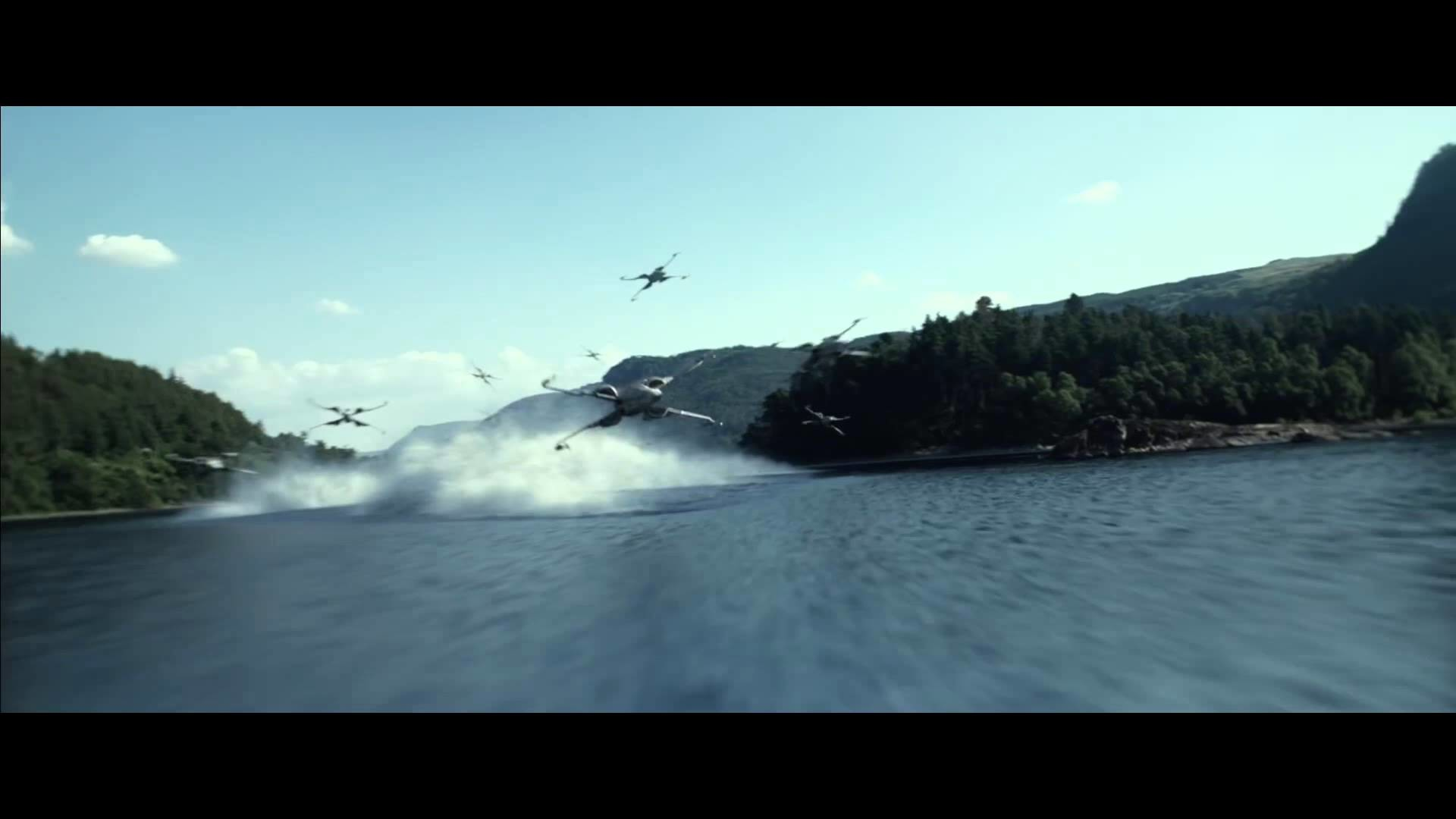 1920x1080 The Force Awakens - X-Wing Battle