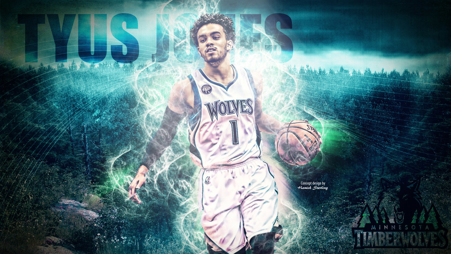 1920x1080 Tyus Jones Timberwolves 2016 Wallpaper