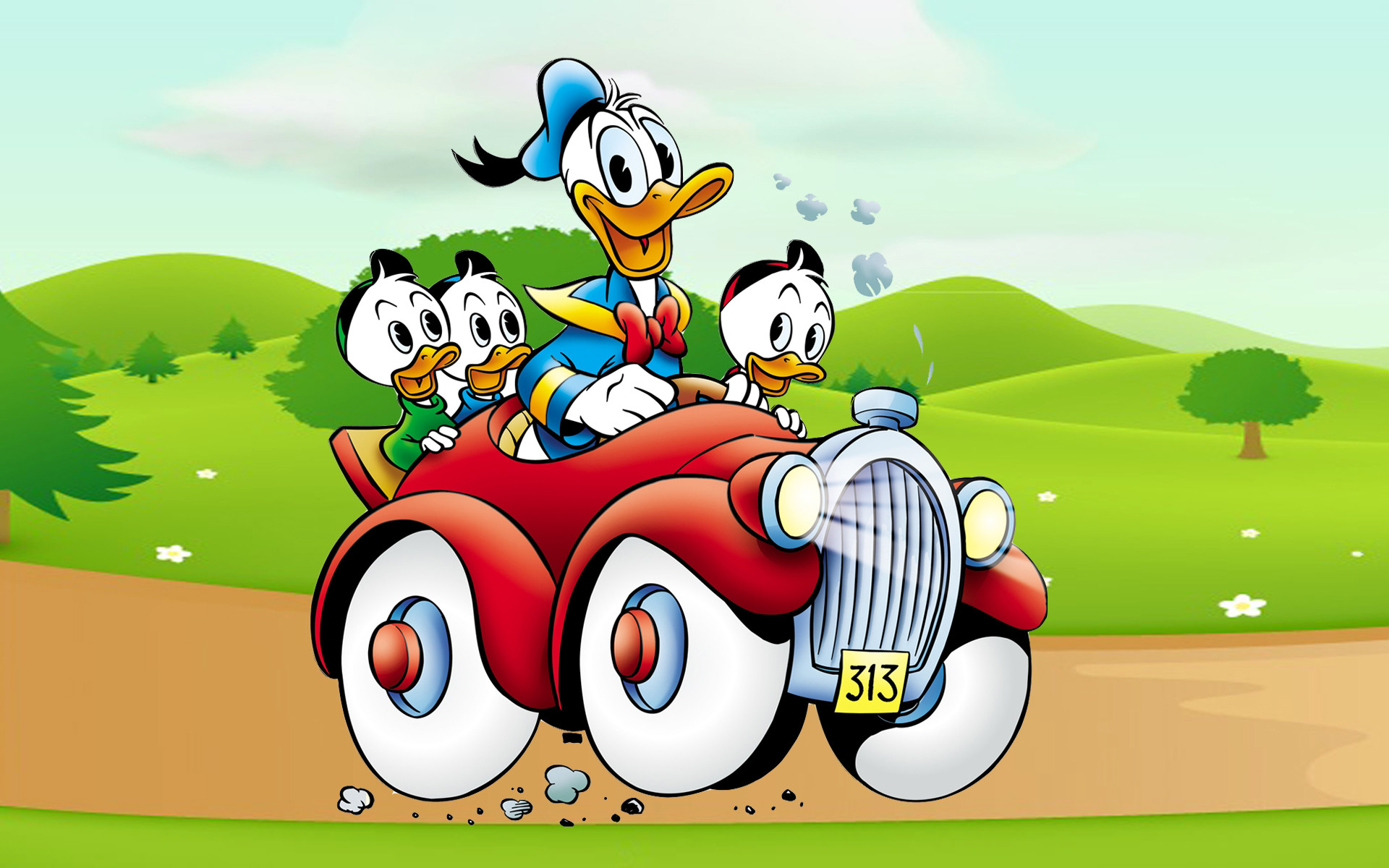 1920x1200 Donald Duck Cartoon Image