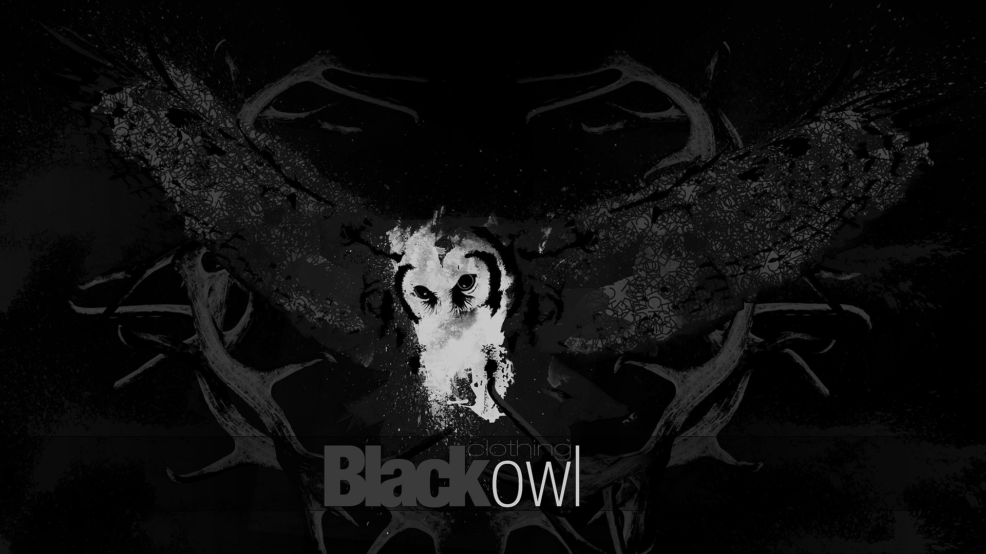 1920x1080 Black Owl wallpaper