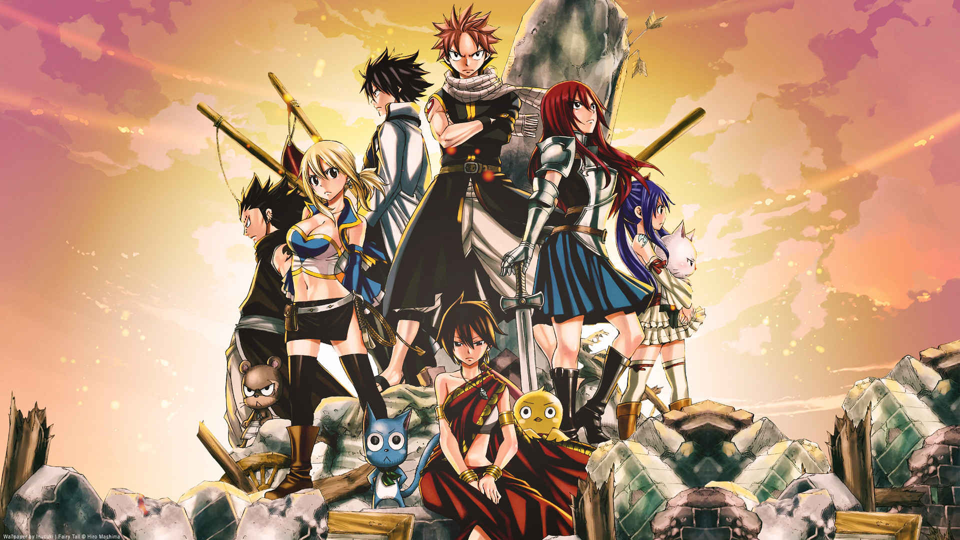 1920x1080 Movie - Fairy Tail the Movie: Phoenix Priestess Anime Lucy Heartfilia Natsu  Dragneel Erza Scarlet