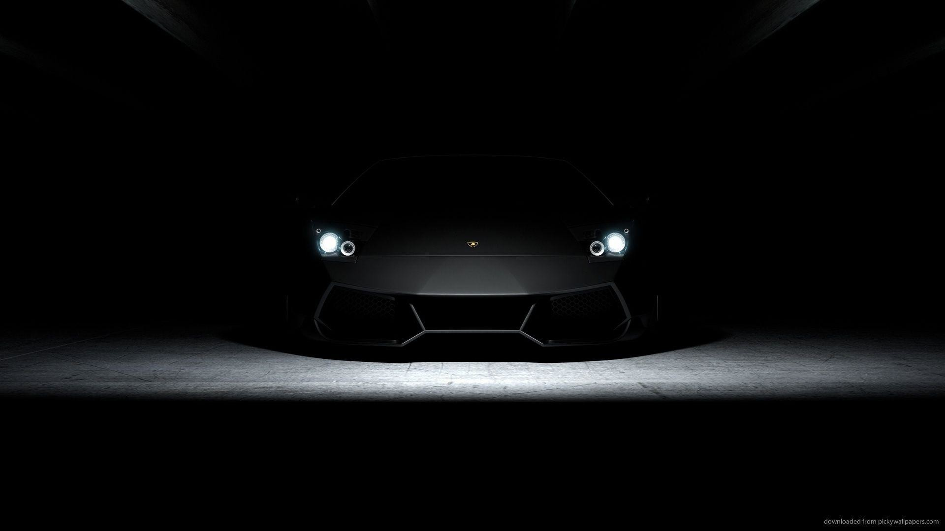 Black Aventador Wallpaper 1920x1080