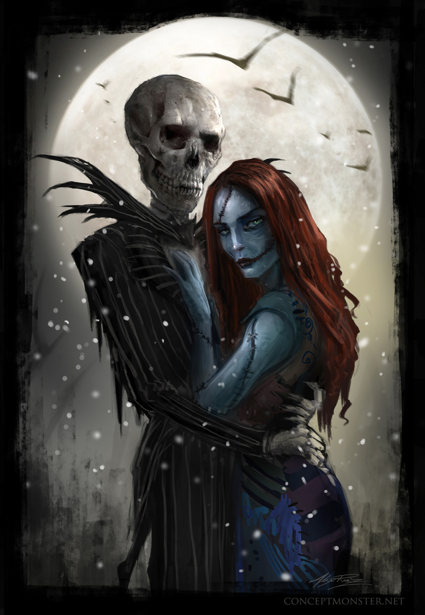 Nightmare Before Christmas Aesthetic Wallpaper.Jack Skellington And Sally Wallpaper 73 Images
