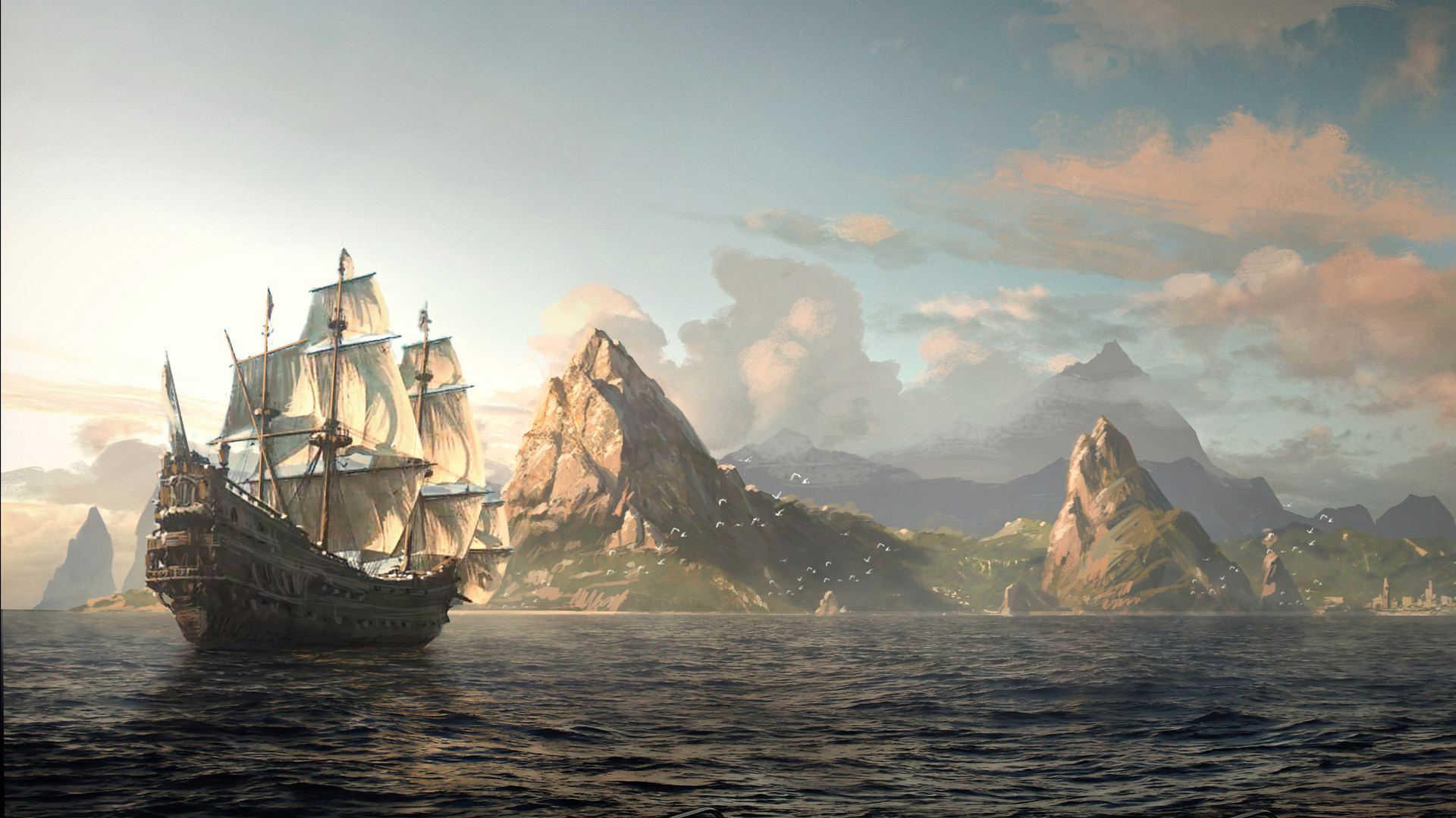 1920x1080 Beautiful concept art for upcoming Assassin's Creed game [] ...
