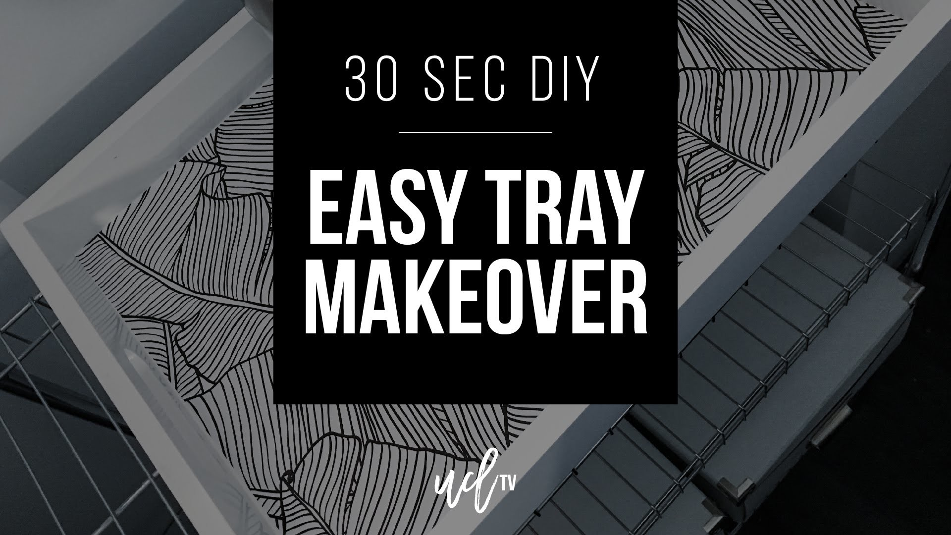 1920x1080 30 Second DIY: Easy Tray Makeover With Wallpaper